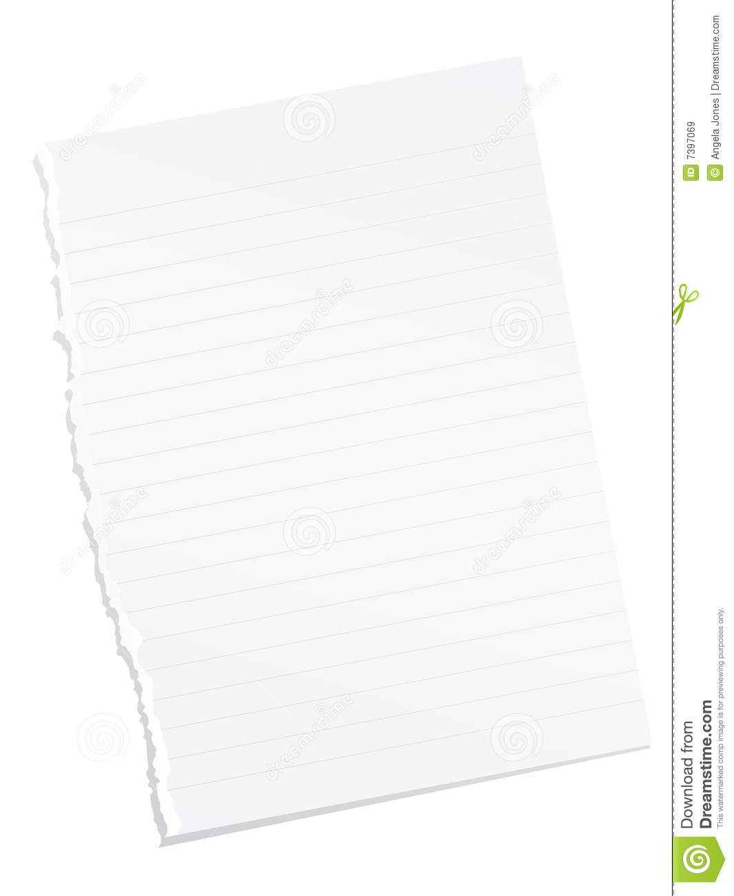Ripped Blank Lined Paper Royalty Free Images Image 7397069 – Lined Blank Paper