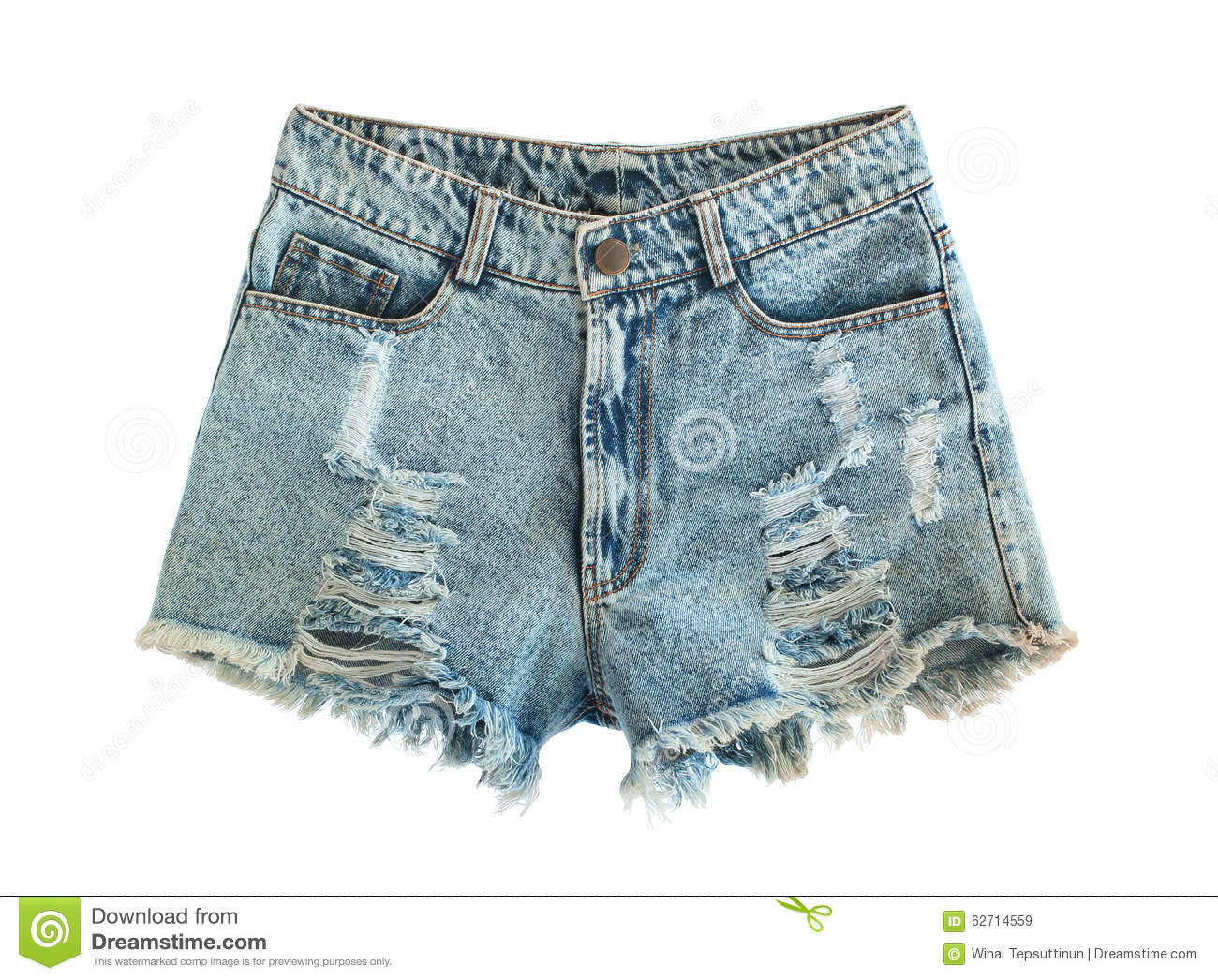 Ripped Jeans Shorts Stock Photo - Image: 62714559