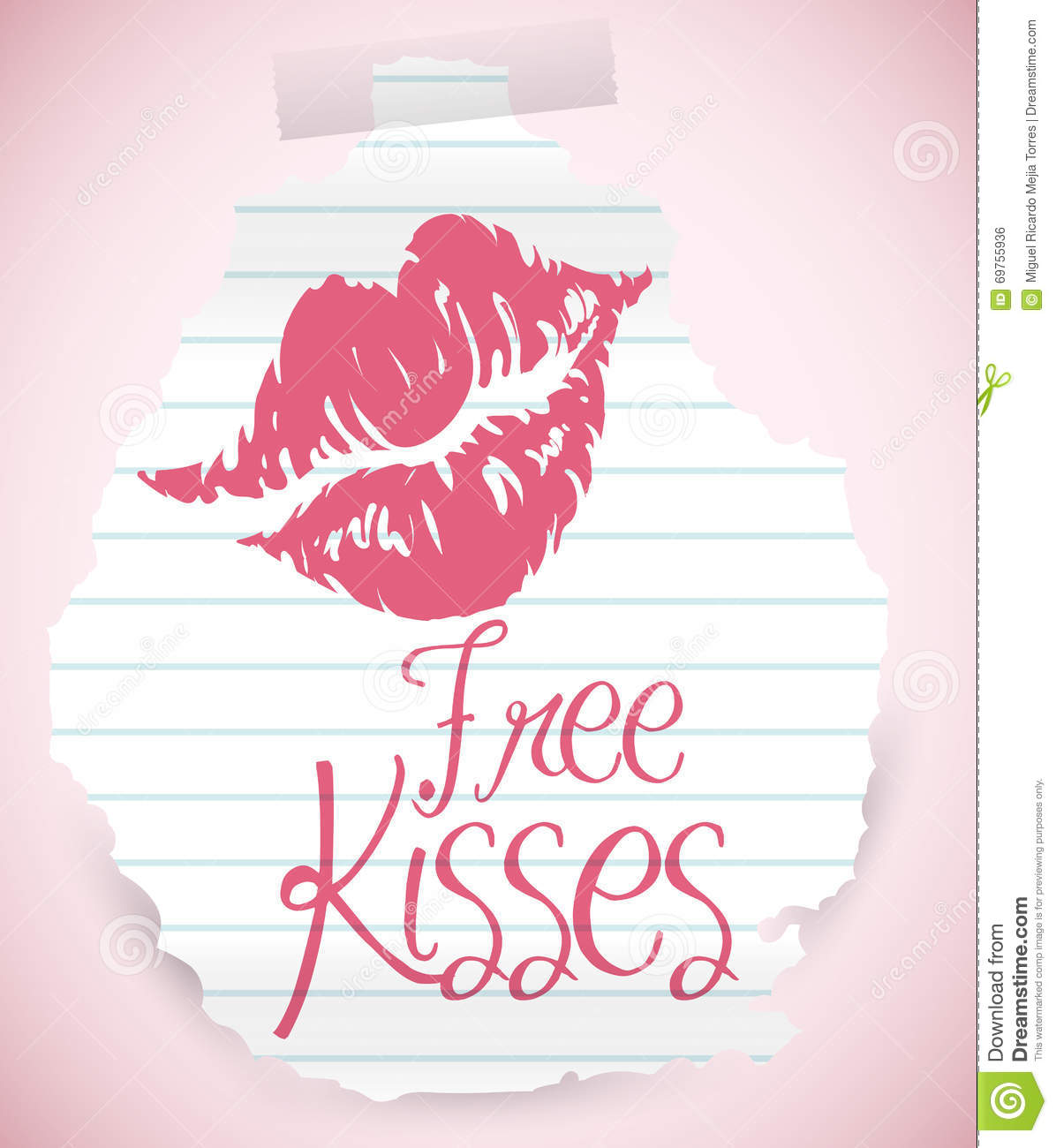 ripped-paper-offering-free-kisses-vector