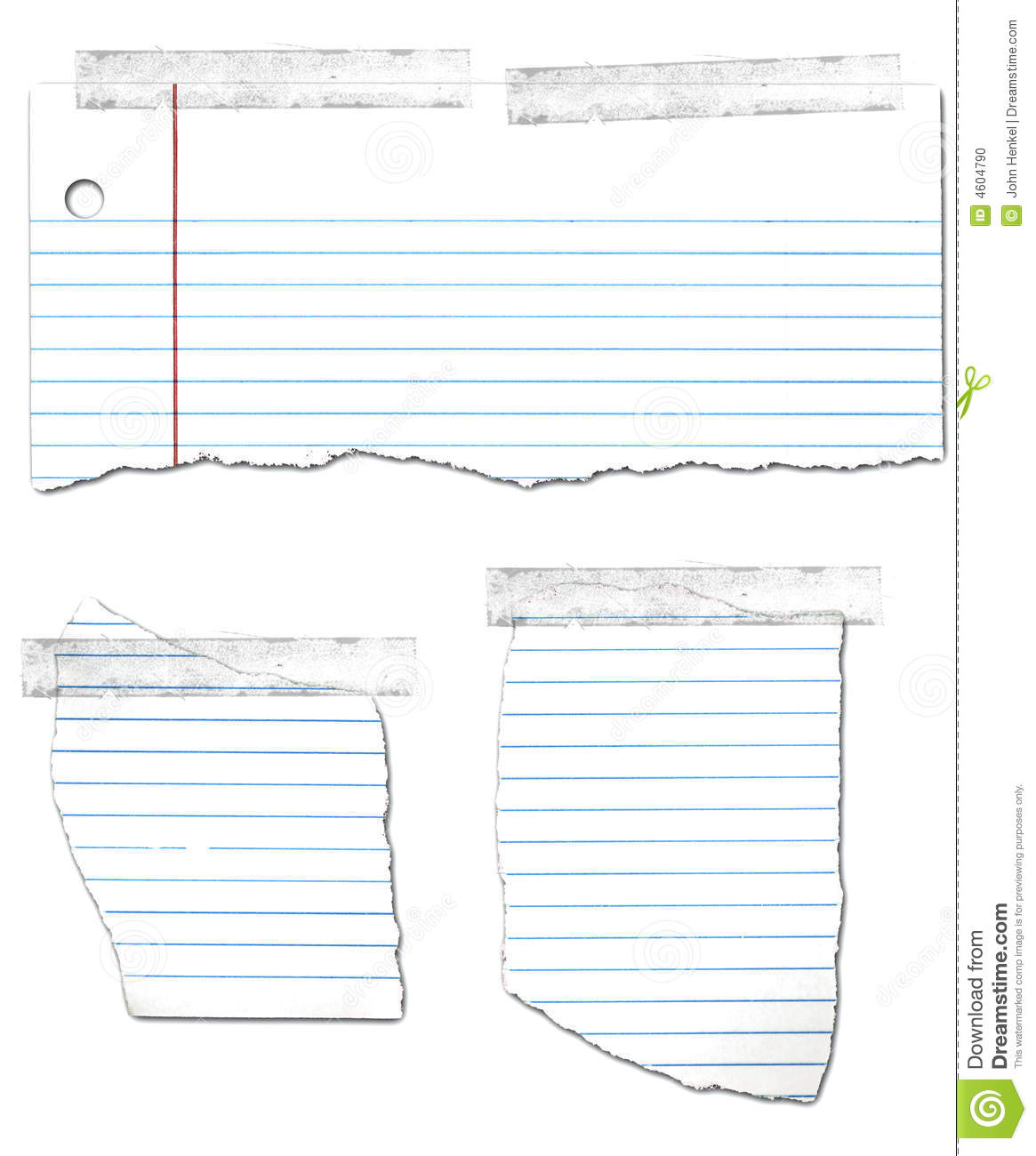 Ripped And Taped Looseleaf Paper Collection Photo Image – Loose Leaf Paper Background