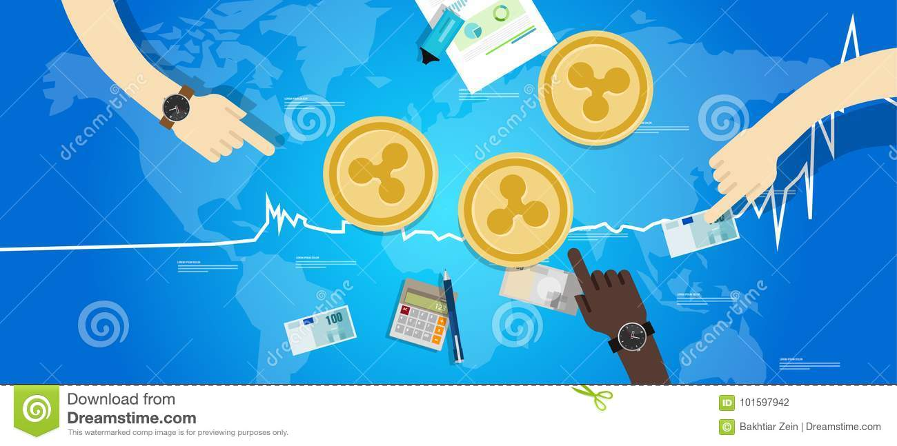 Ripple coin increase exchange value digital virtual price up chart blue