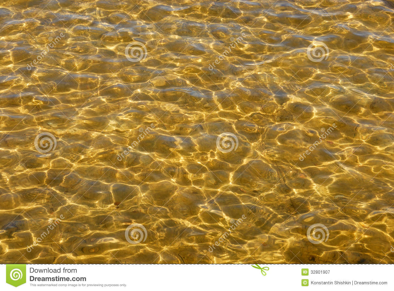Transparent Rippling Clear Water In Sunlight Background