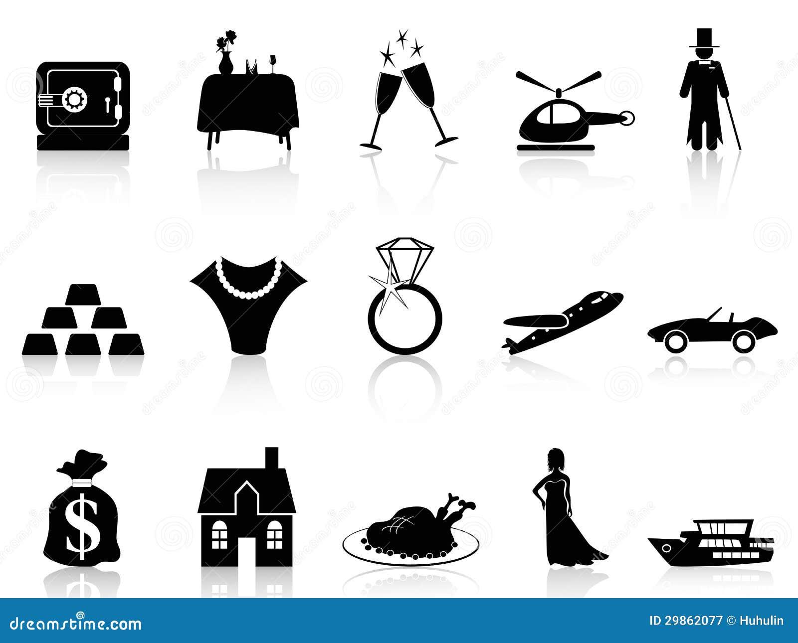 Riqueza e ícone do luxo
