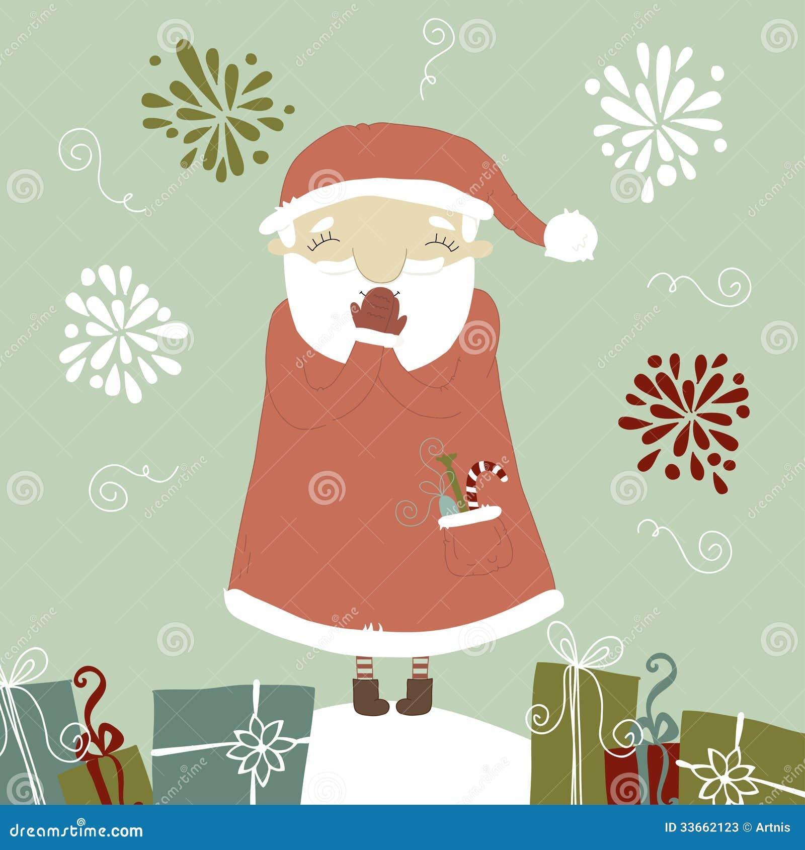 Risa de santa claus una serie de tarjetas de navidad - Disenar tarjetas de navidad ...