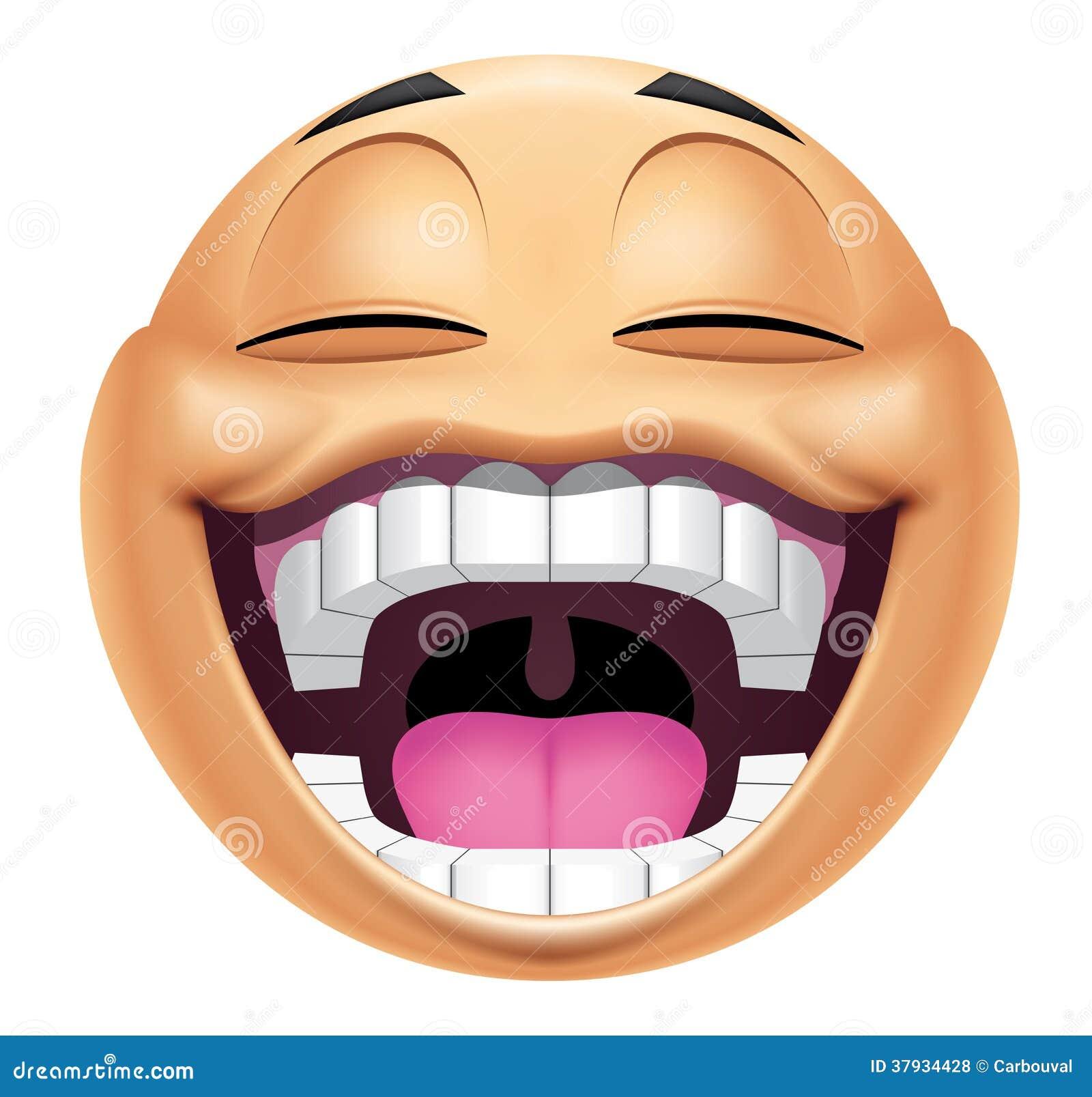 Risa Del Emoticon Stock De Ilustración Ilustración De Ilustración