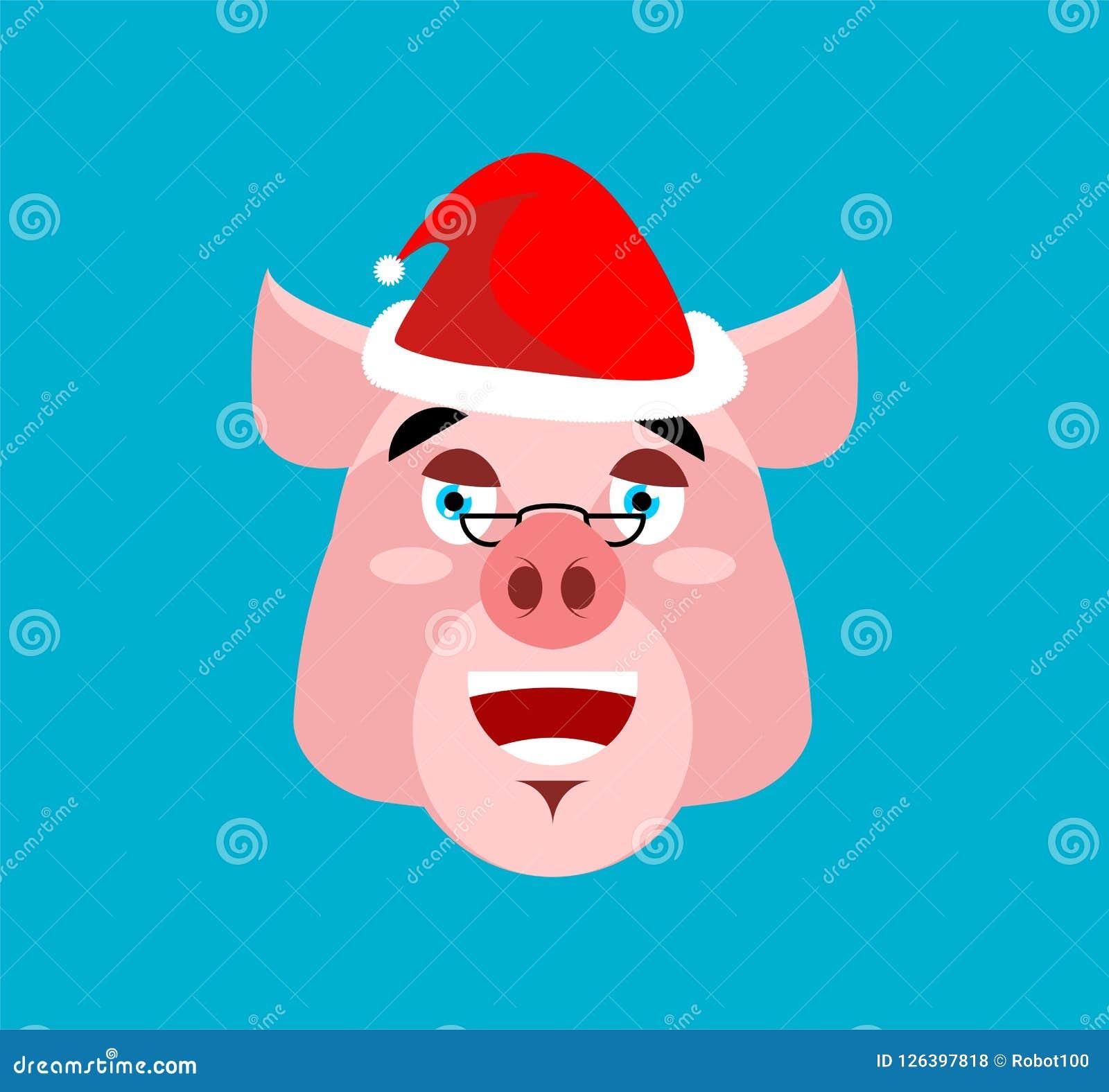 Risa Emoji De Santa Pig Cara Guarra Alegre Avatares De La