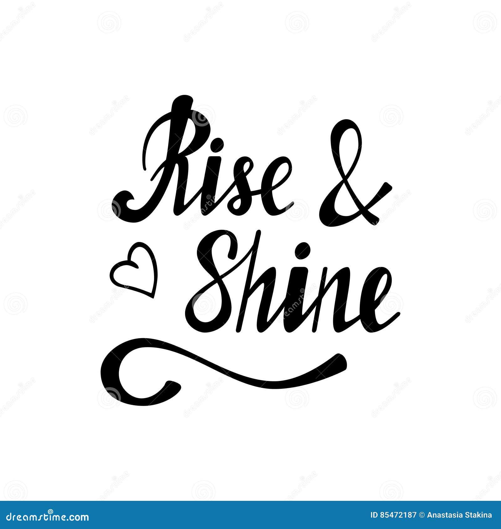 Rise Shine Lettering Royalty-Free Illustration ...