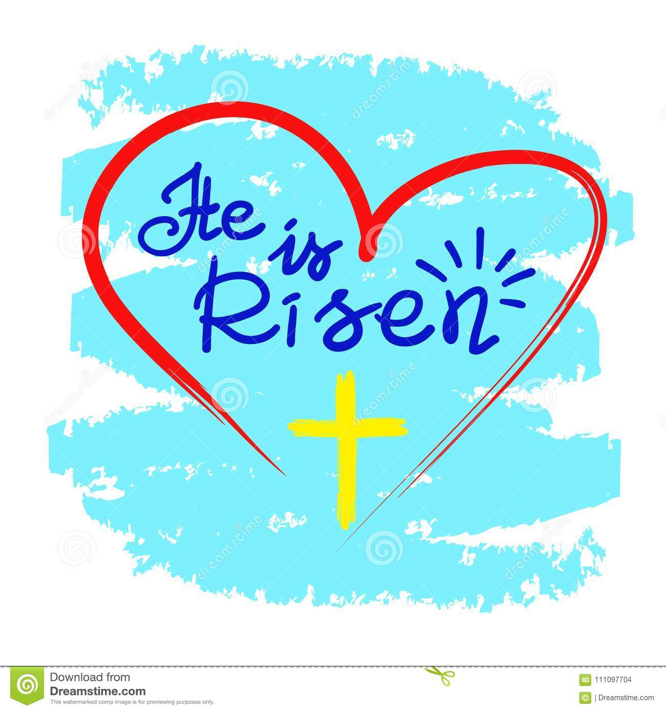 He Is Risen Motivational Quote Lettering Religious Poster
