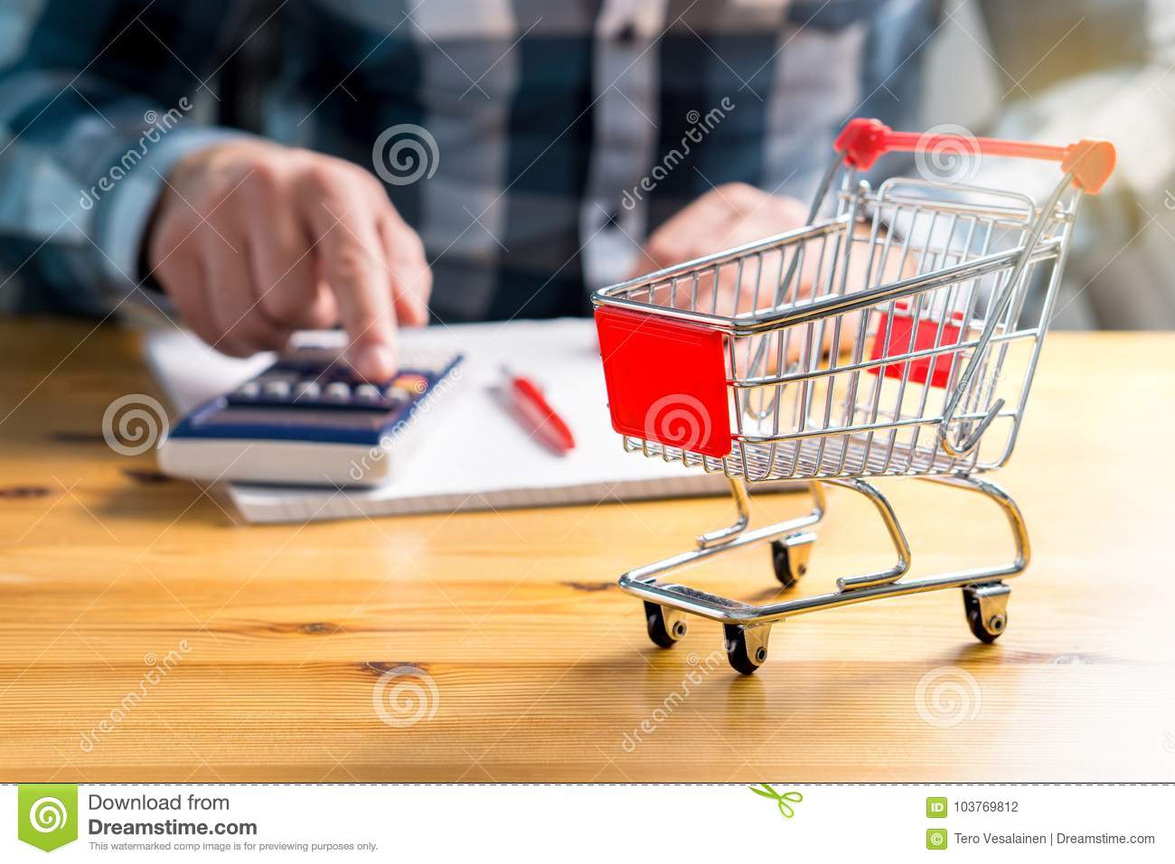 Rising food and grocery store prices and cost of living concept.