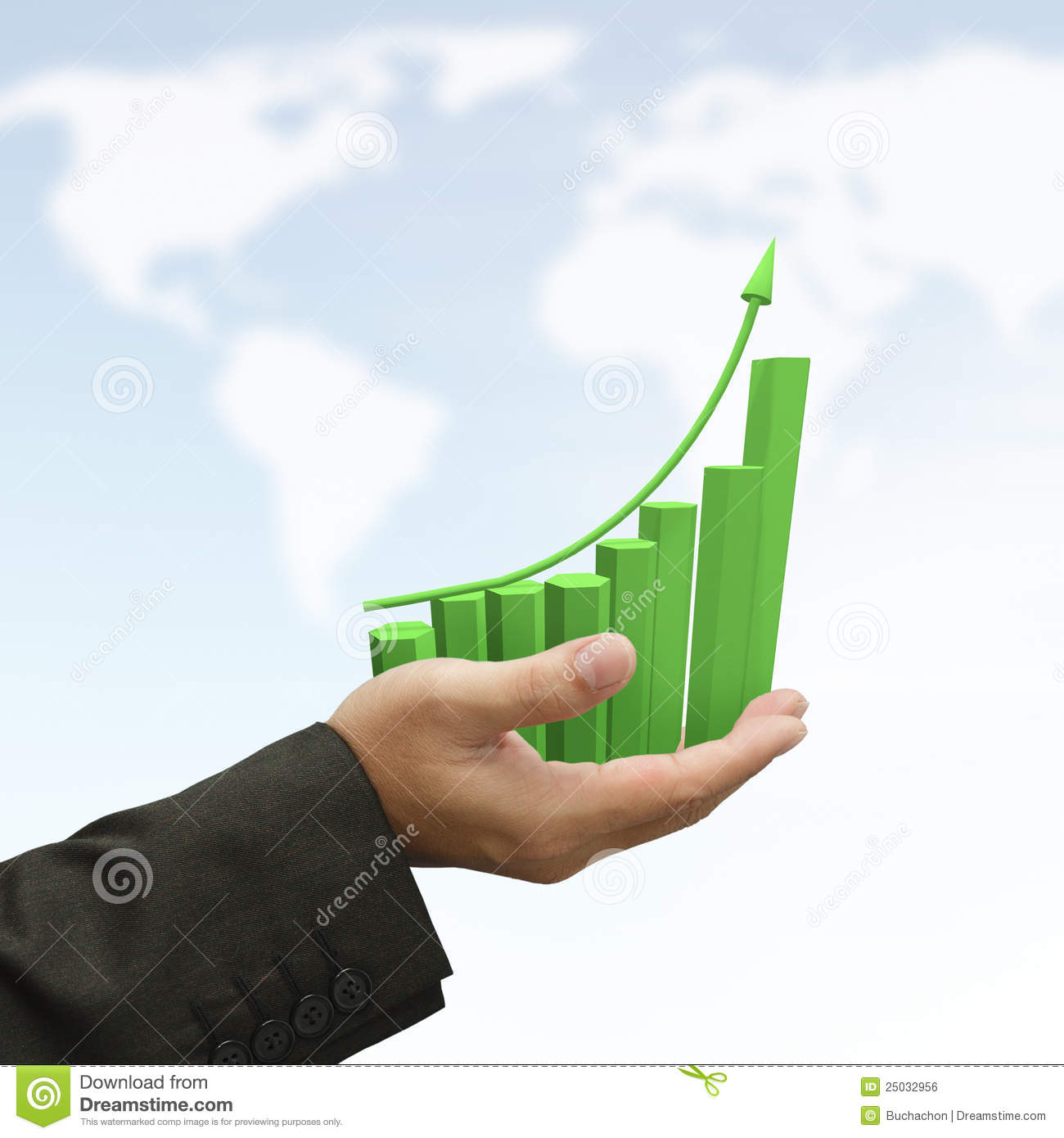 rising green graph