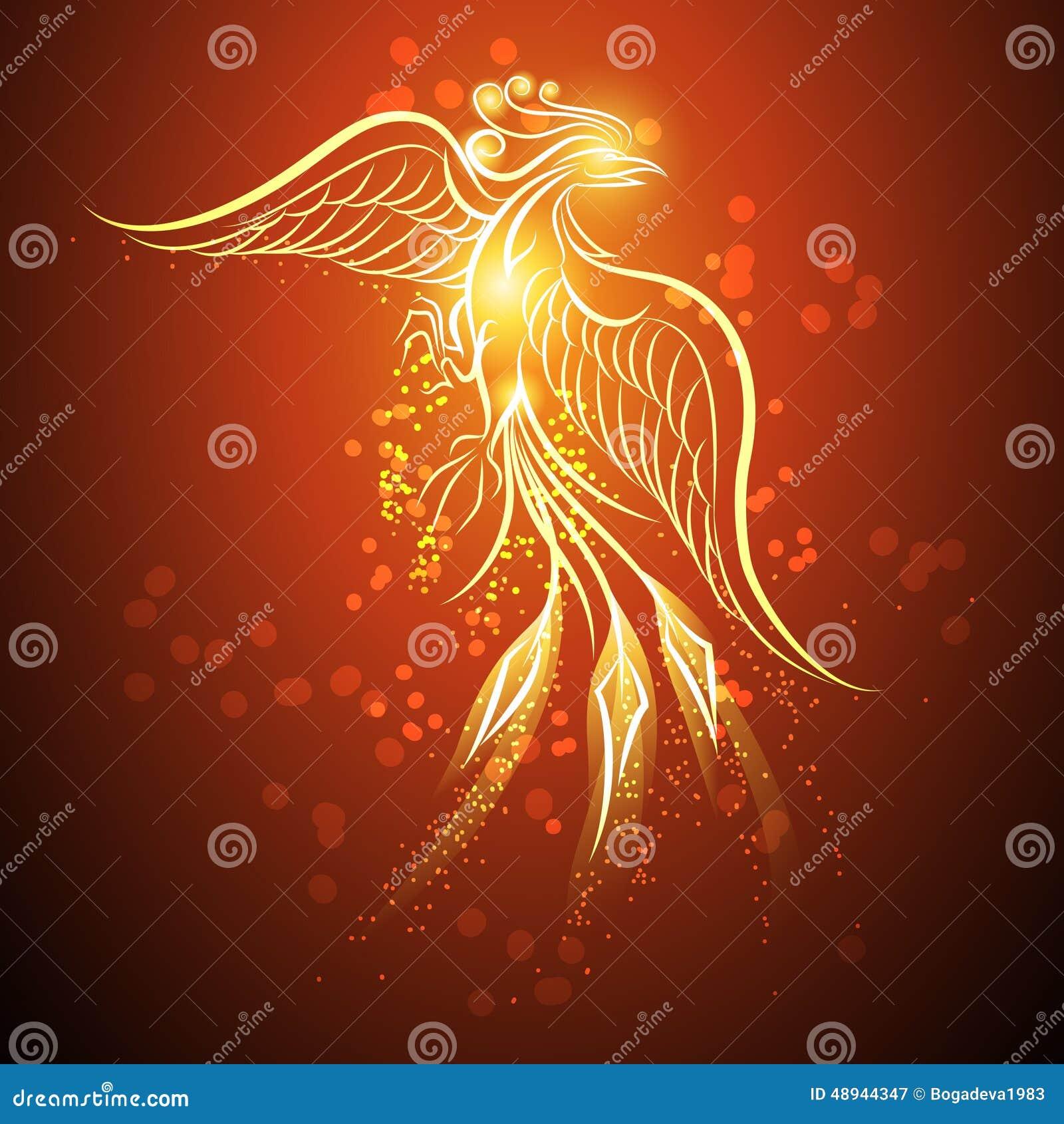 rising phoenix stock vector illustration of eagle myth