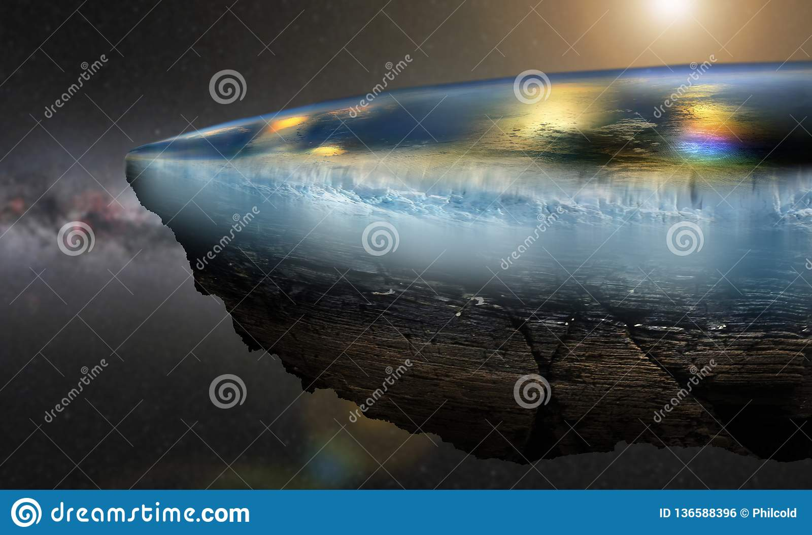 Flat Earth Close View