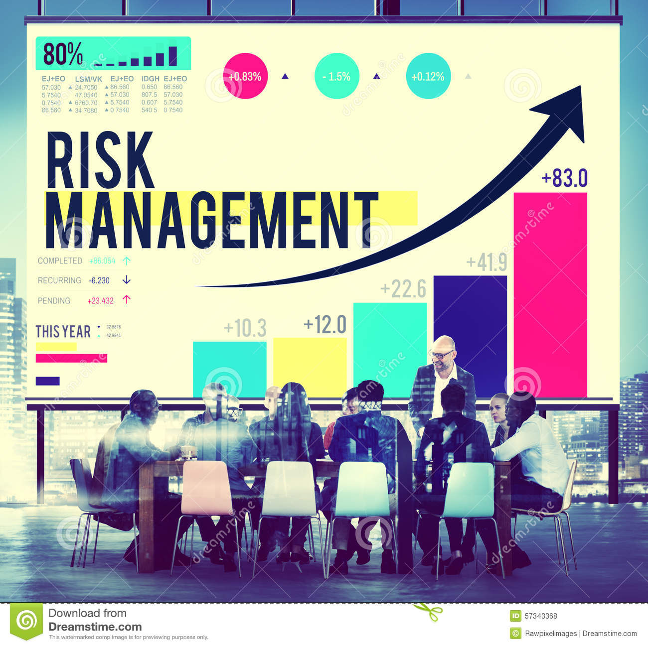 Manage Your Opportunities Be: Risk Management Opportunity Planning Safety Concept Stock