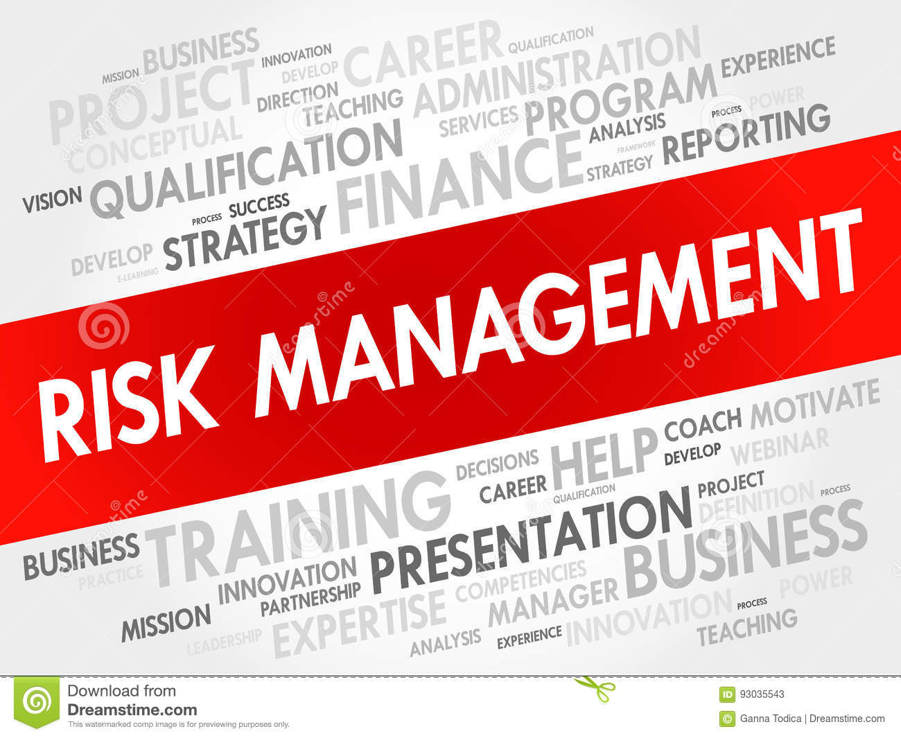 RISK Management Word Cloud Collage Stock Illustration - Illustration