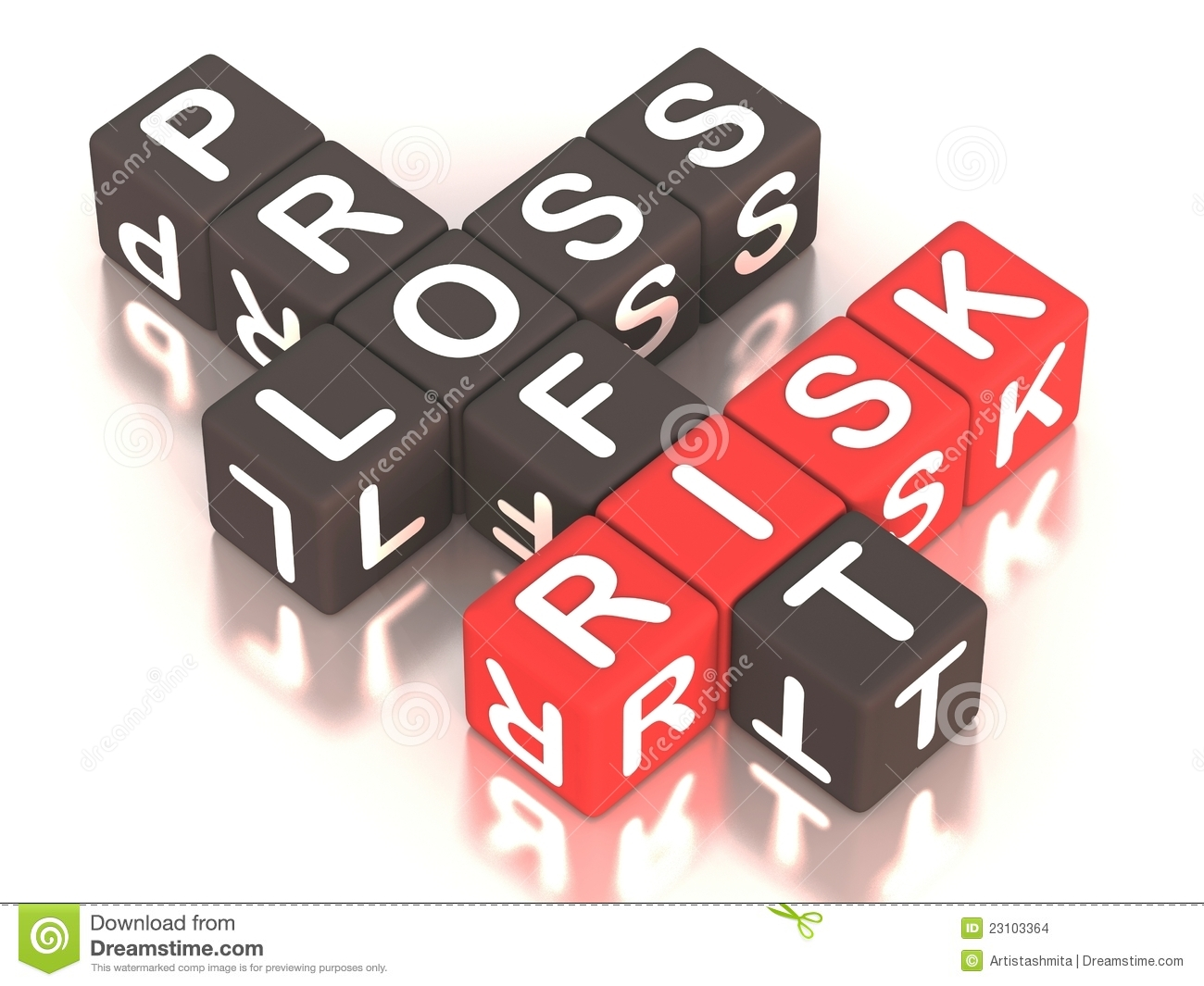 Risk Profit Loss Stock Illustration Image Of Concepts