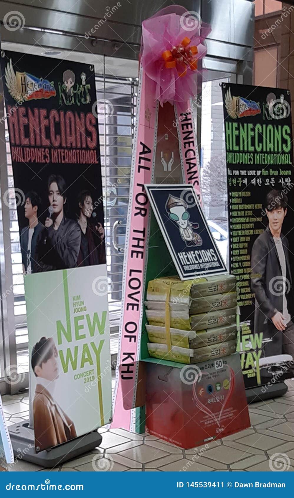 RISKRANSAR PÅ KIM HYUN JOONG NY VÄGkonsert 23/02/19, Busan, Sydkorea