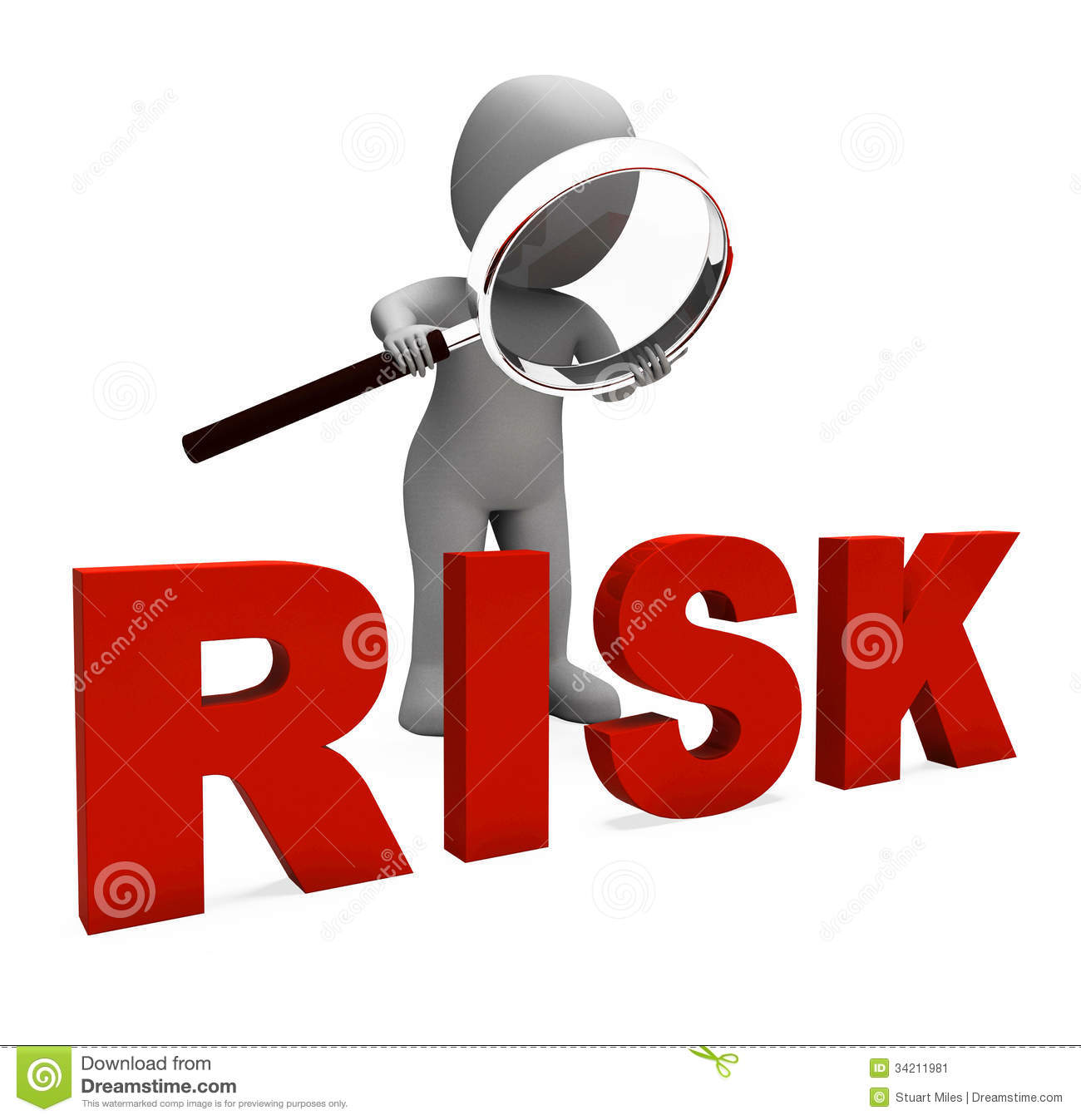 Risky Character Shows Dangerous Hazard Or Risk Stock Image - Image ...