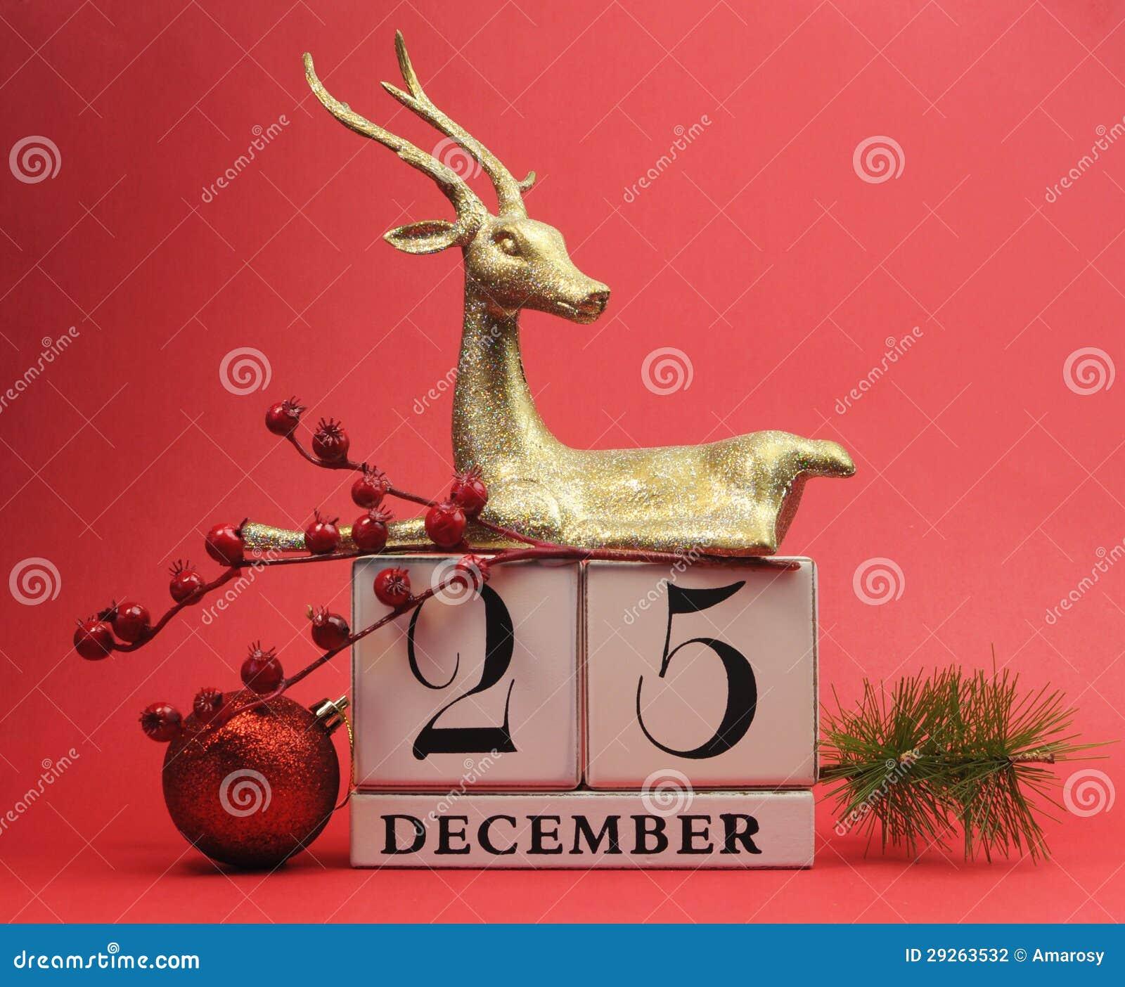 Giorno Di Natale.Risparmi Rossi Di Tema Il Calendario Della Data Per Il