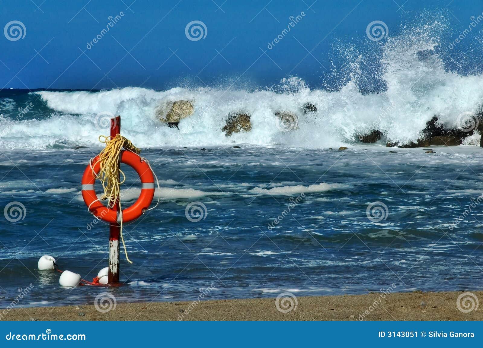 Risparmiatore di vita della spiaggia