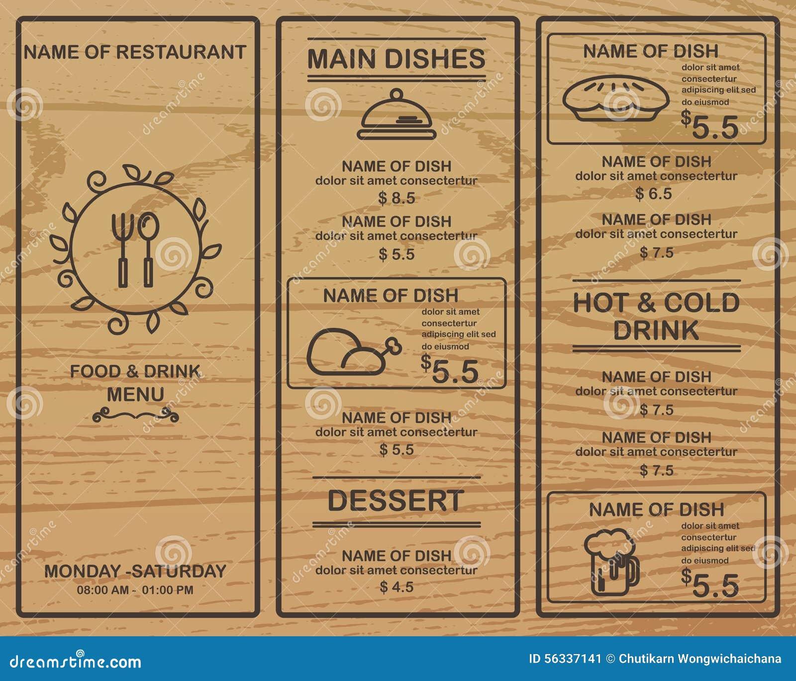 Ristorante del menu