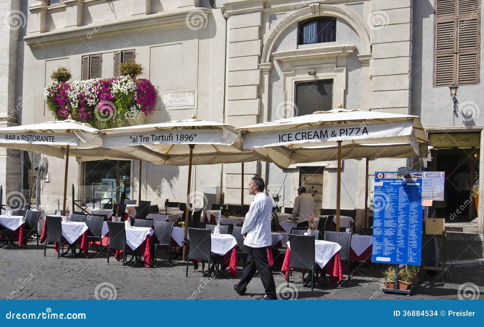 Download Ristorante Del Quadrato Di Navona Immagine Stock Editoriale - Immagine di europa, fiori: 36884534