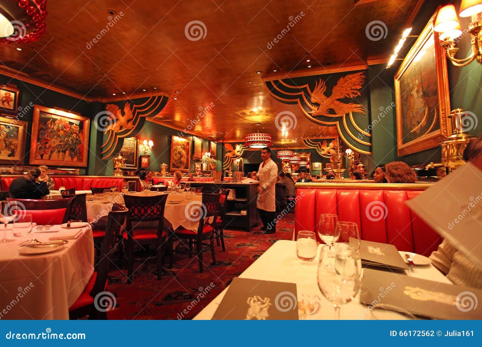ristorante russo a new york u s a fotografia editoriale