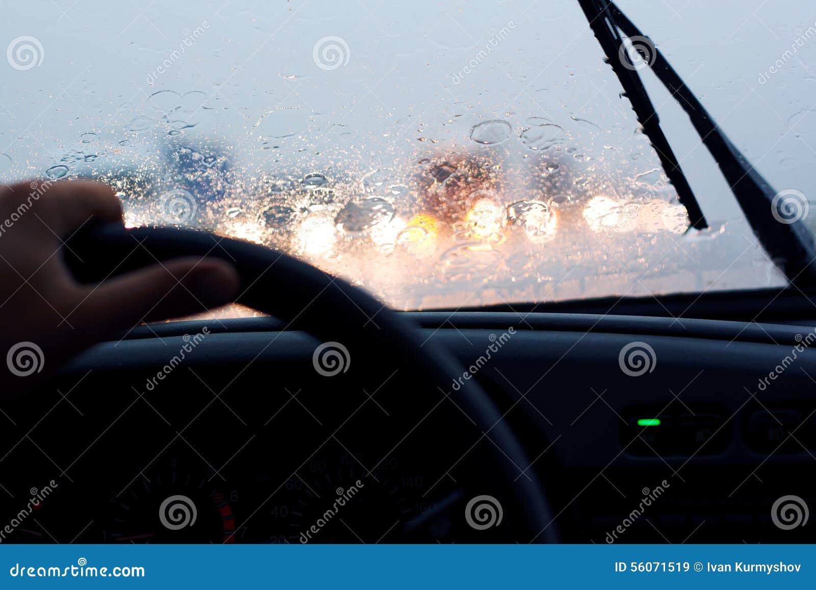 Rit in regen