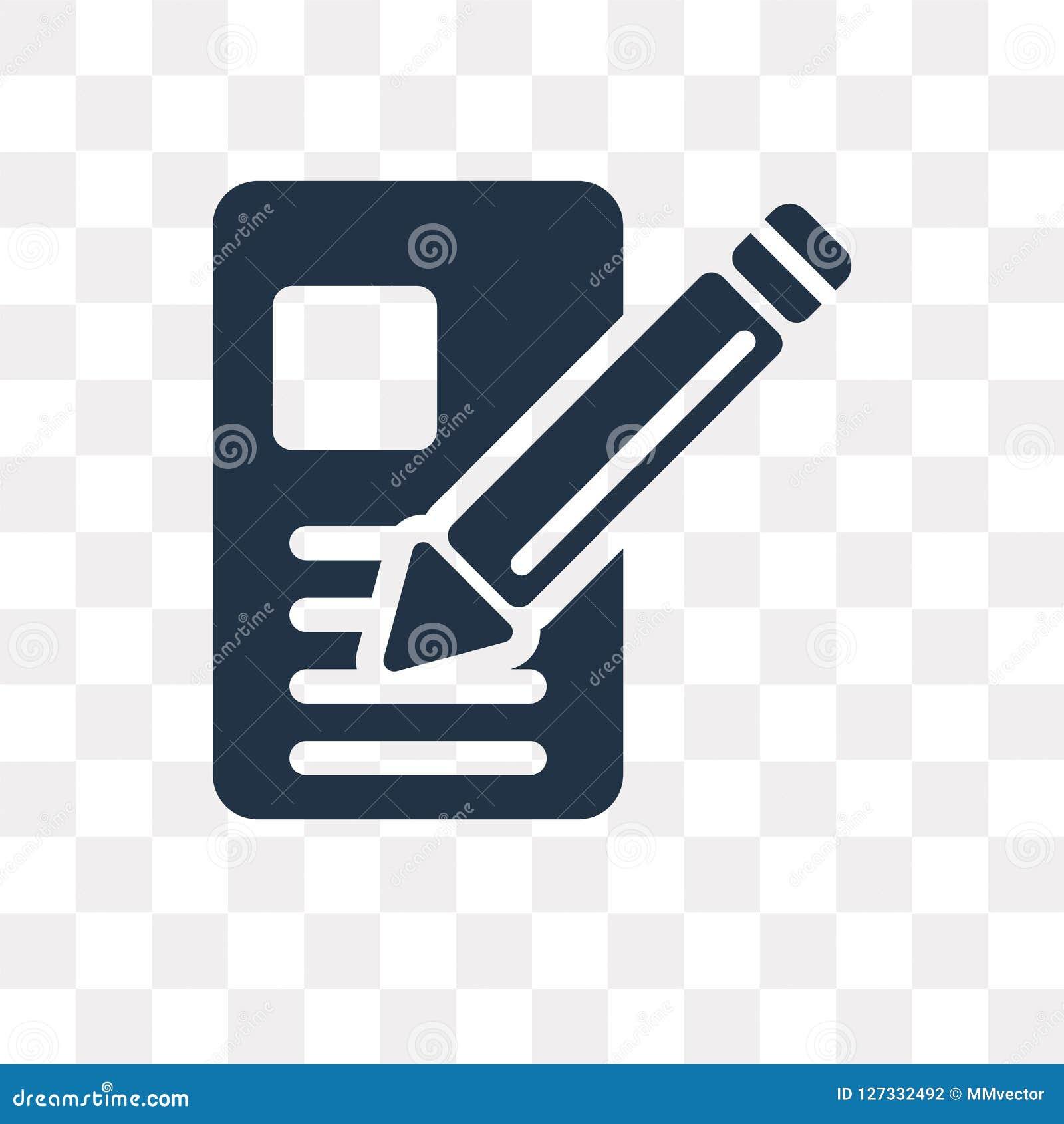 Rita vektorsymbolen som isoleras på genomskinlig bakgrund, blyertspenna t