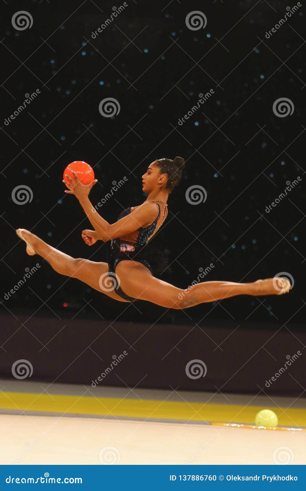 Ritmische Gymnastiek Grand Prix in Kyiv, de Oekraïne
