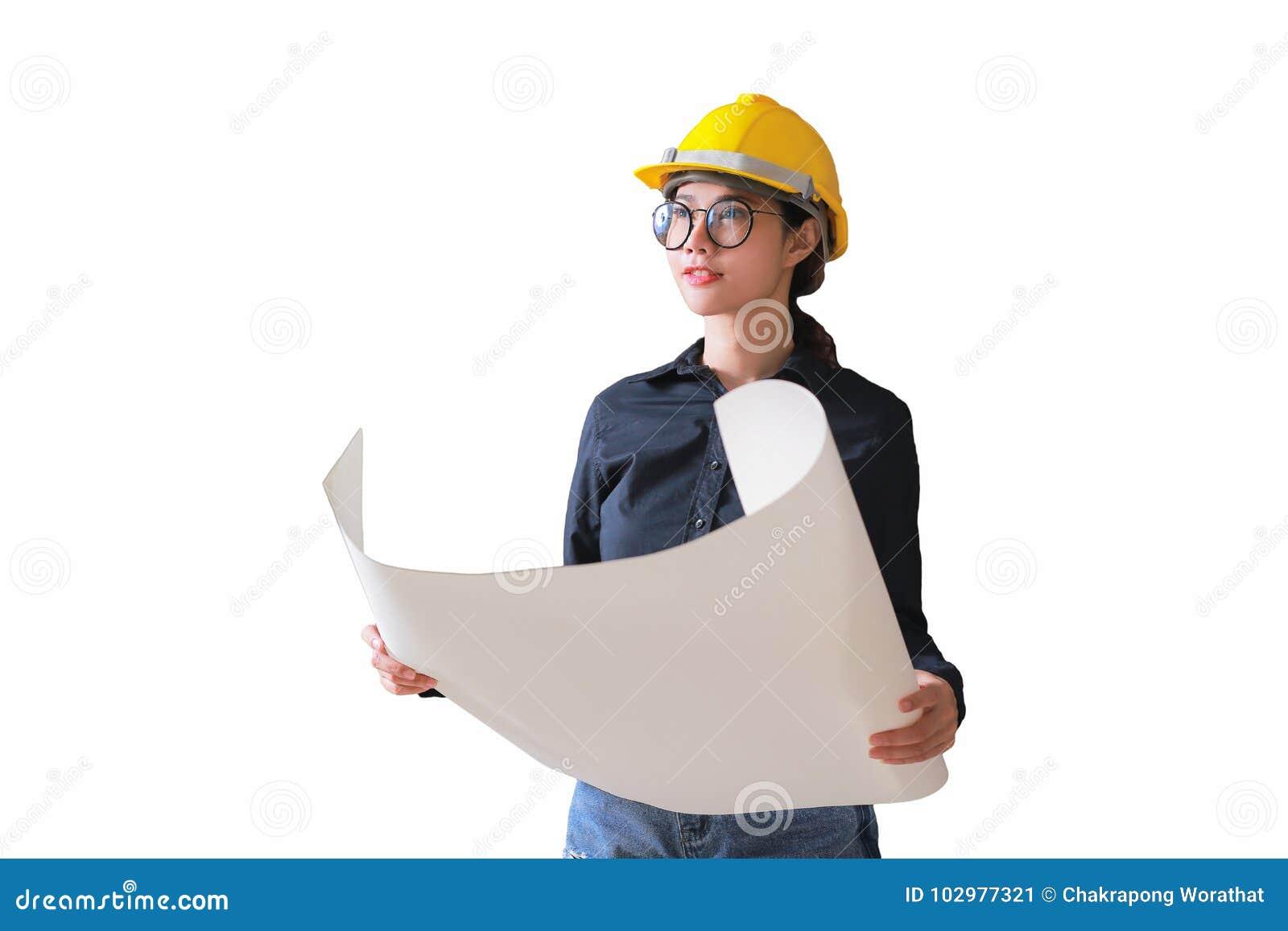 Ritning för innehav för bärare för tekniker för affärskvinna Med clippi