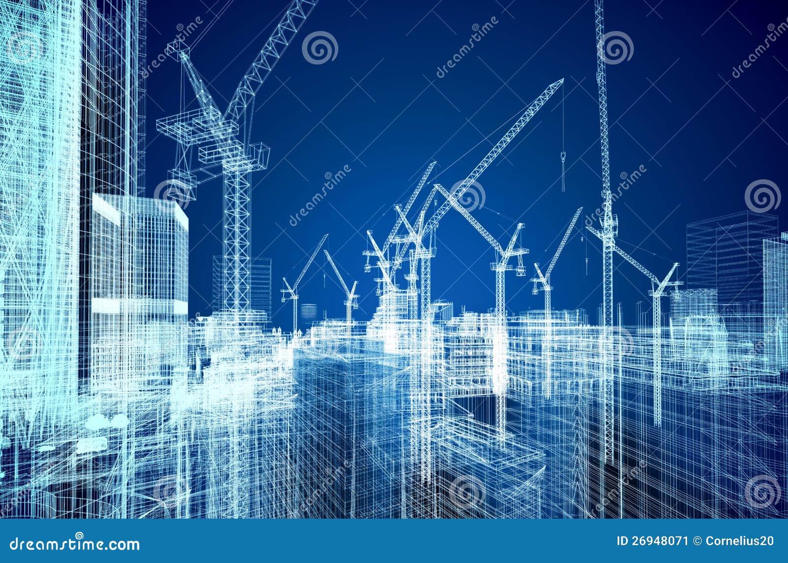 Ritning för konstruktionslokal