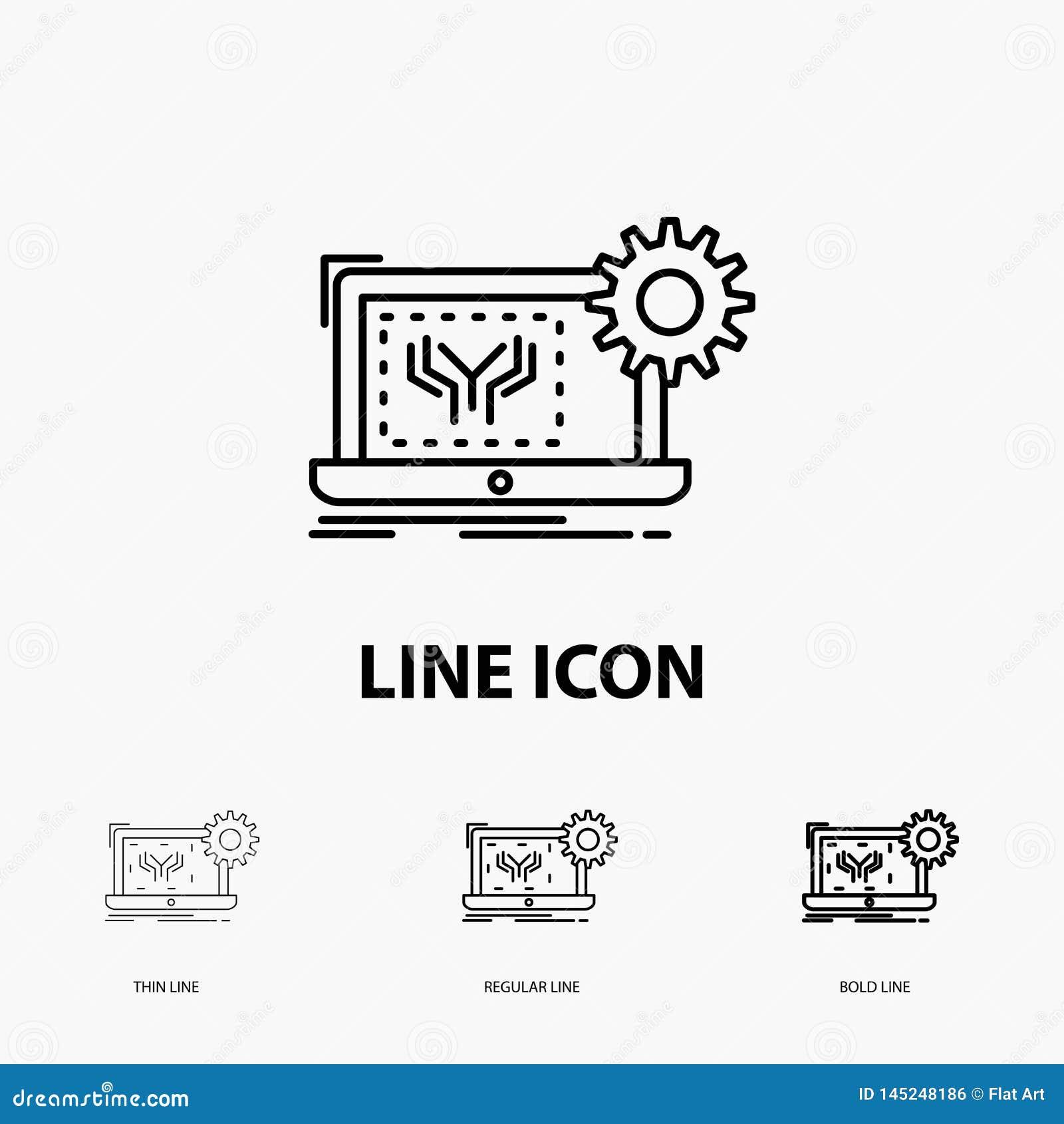 Ritning, strömkrets, elektronik, teknik, maskinvarusymbol i tunt, stamgäst och djärv linje stil ocks? vektor f?r coreldrawillustr
