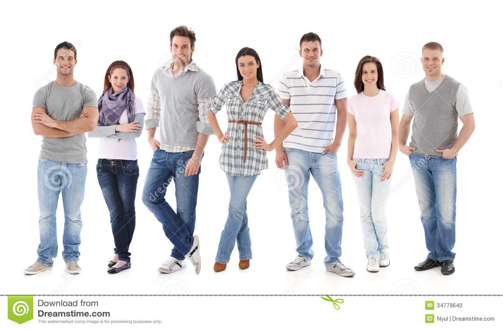 Ritratto del gruppo dei giovani felici