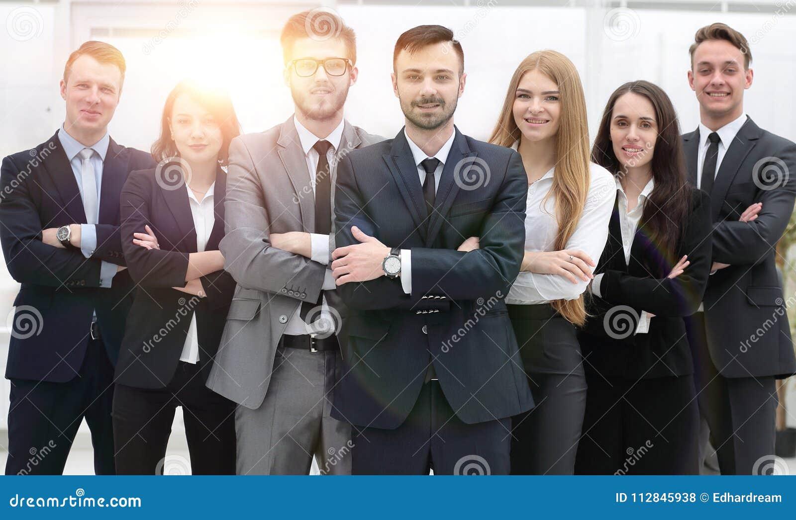 Ritratto del gruppo project manager e gruppo di affari