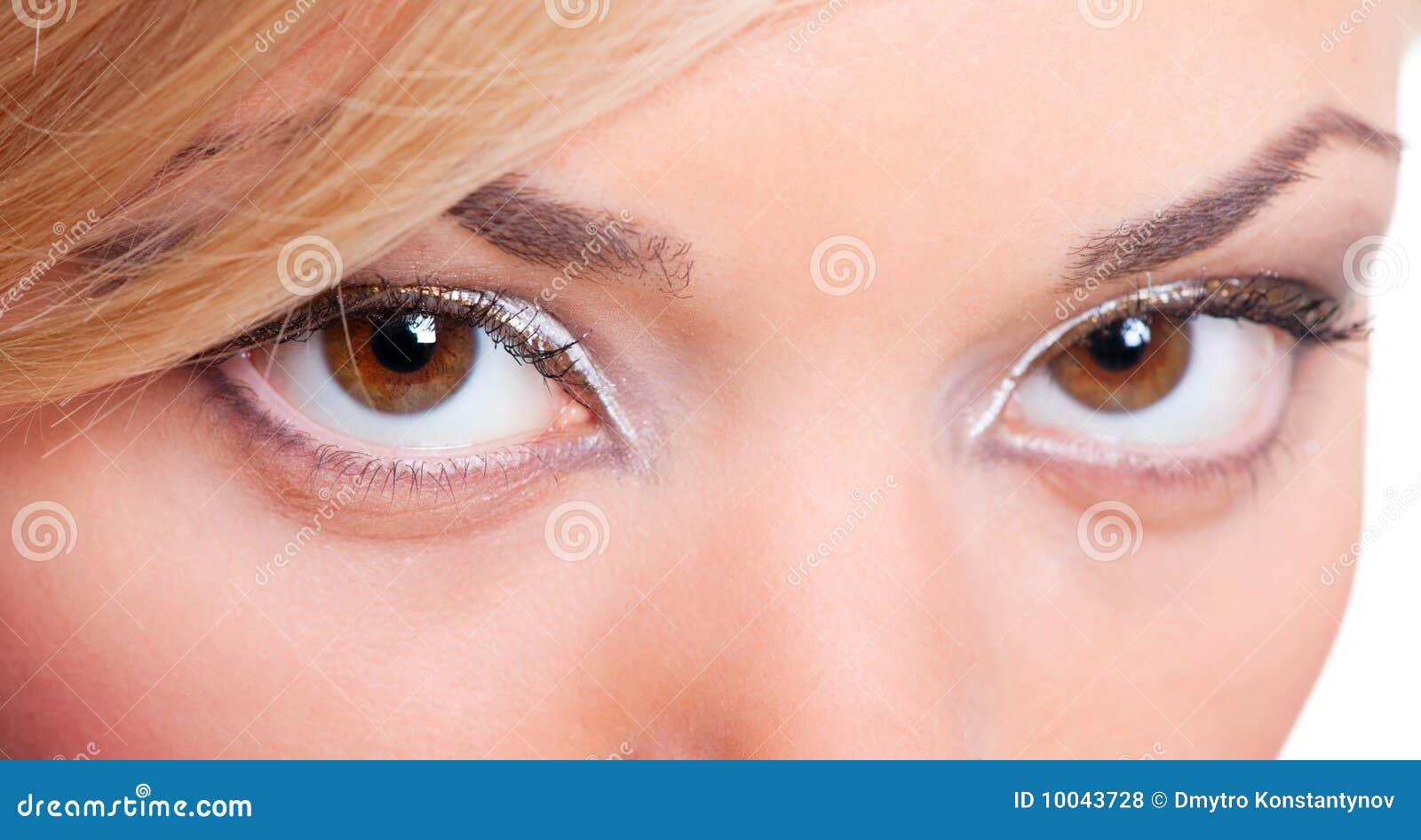 Ritratto del primo piano degli occhi femminili fotografia for Piani principali del primo piano