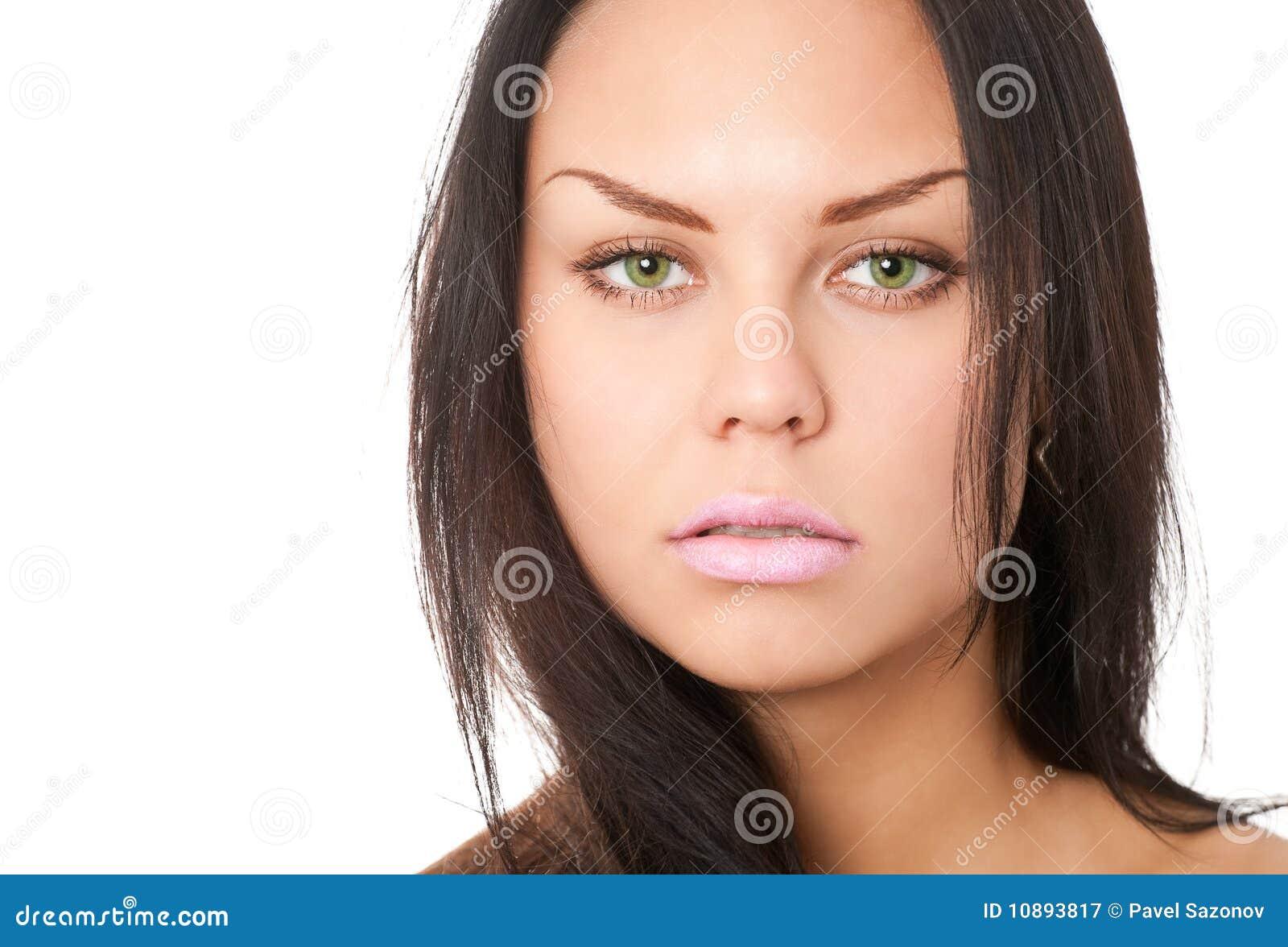 Ritratto del primo piano del brunette immagine stock for Piani principali del primo piano
