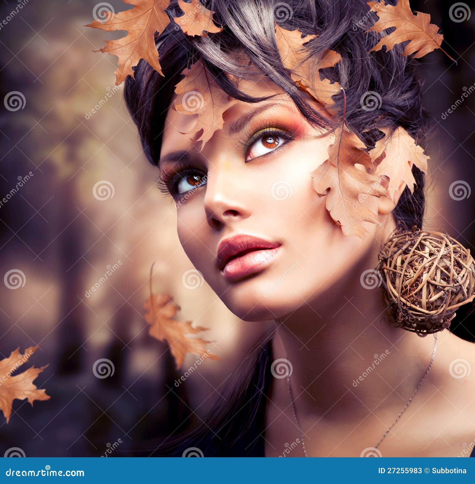 Ritratto della donna di autunno