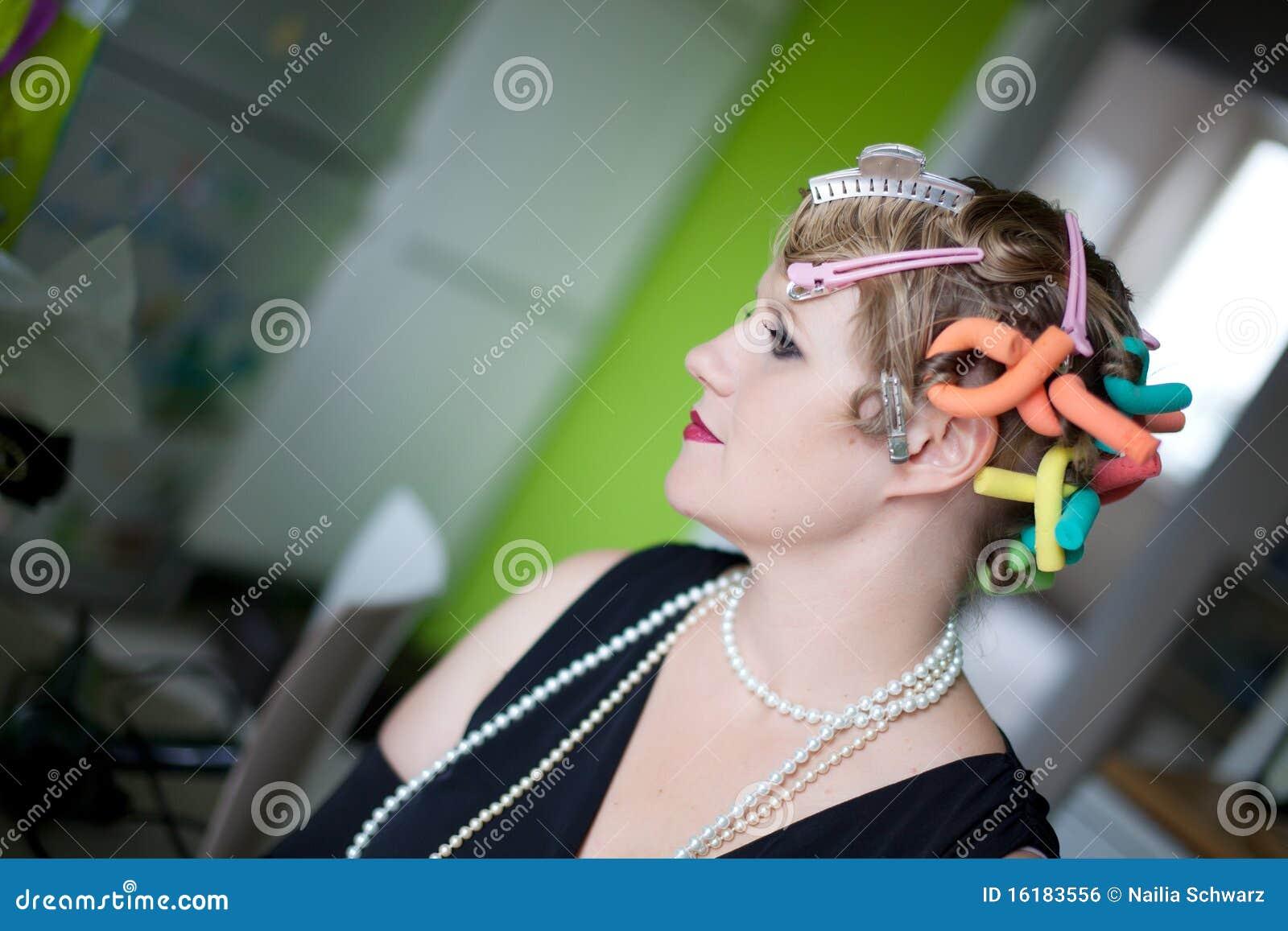 Ritratto della donna di stile dell annata
