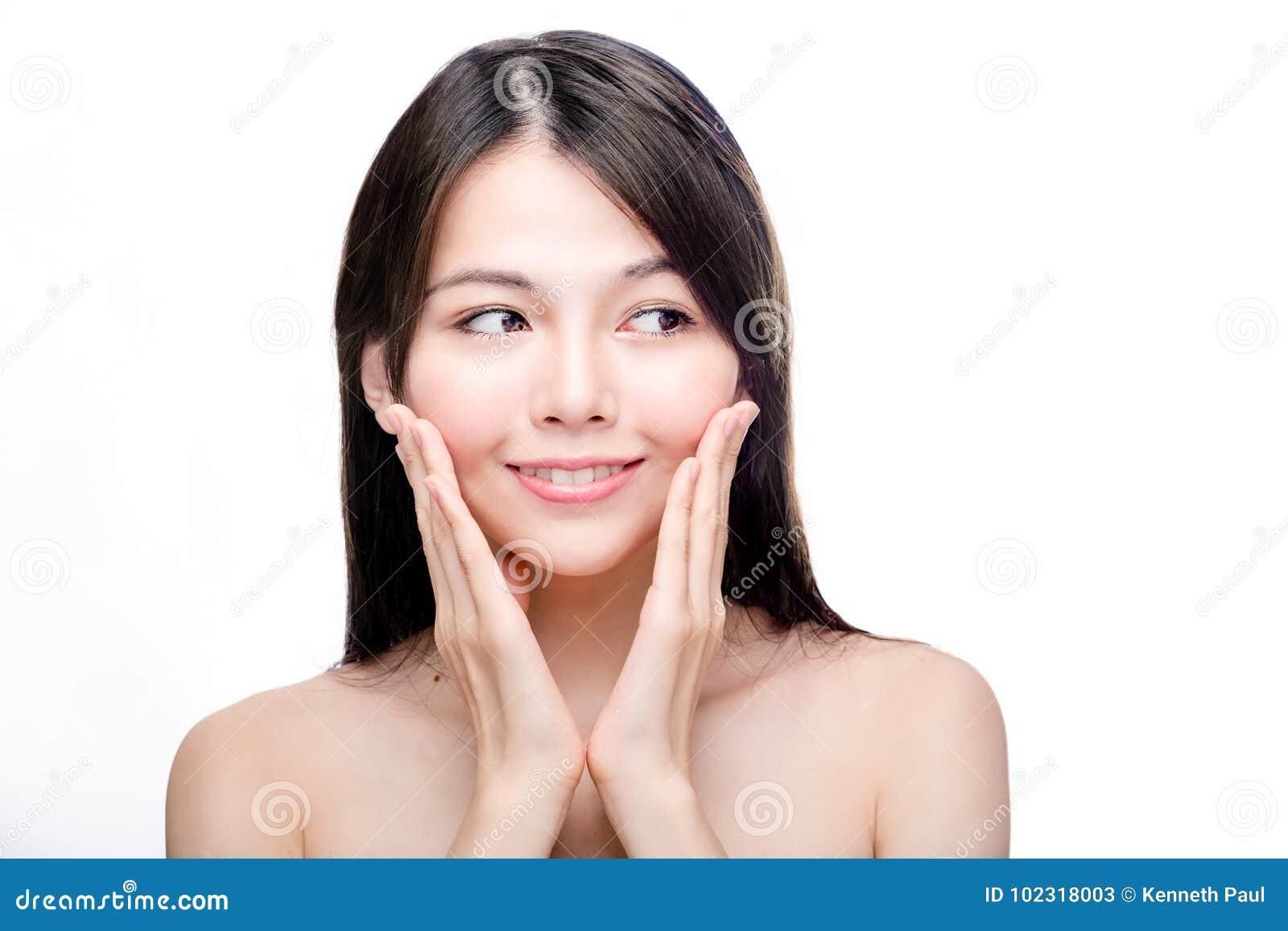 Ritratto di bellezza della femmina asiatica