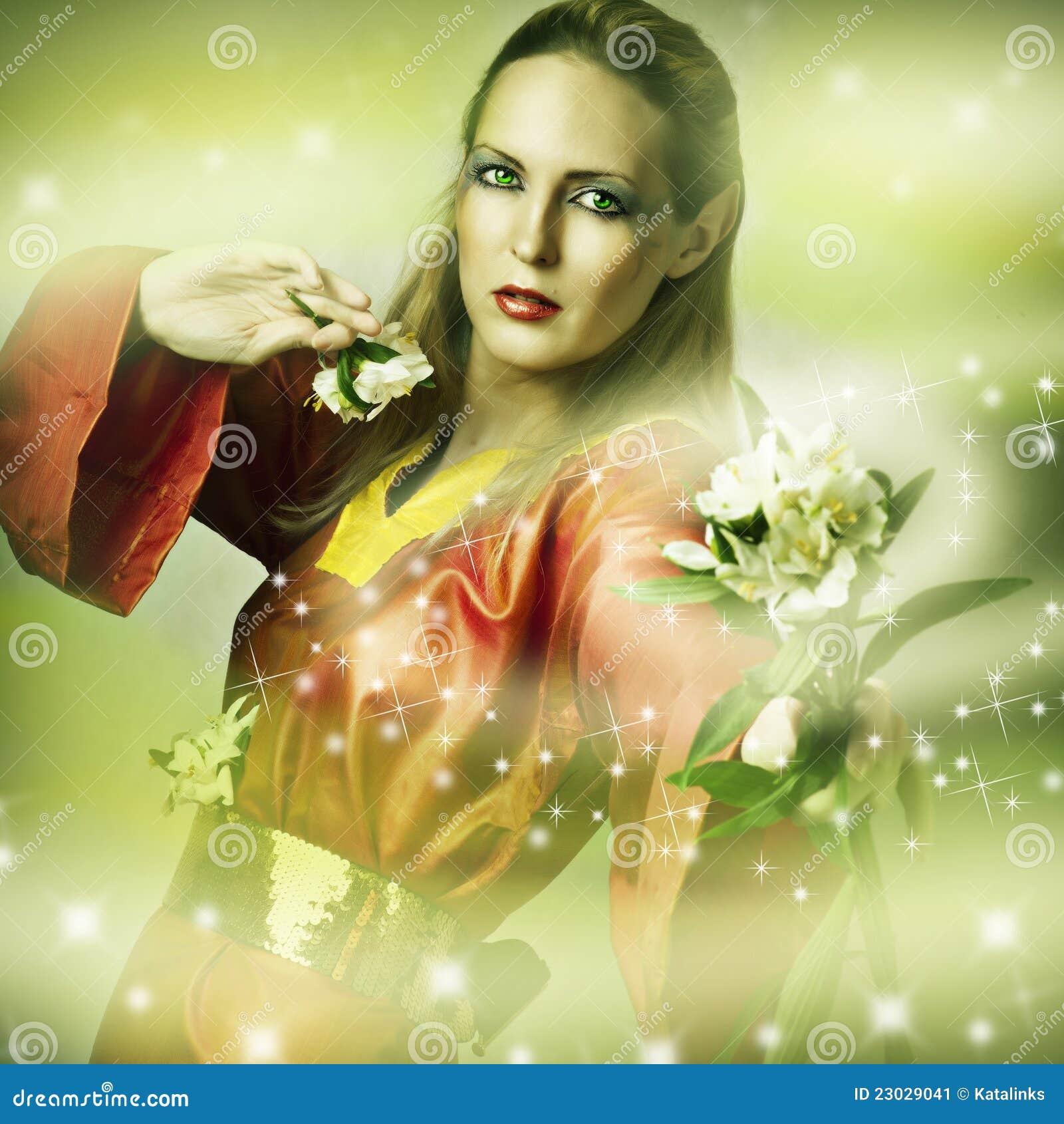 Ritratto di fantasia di modo della donna magica immagine for Modo 10 prezzi