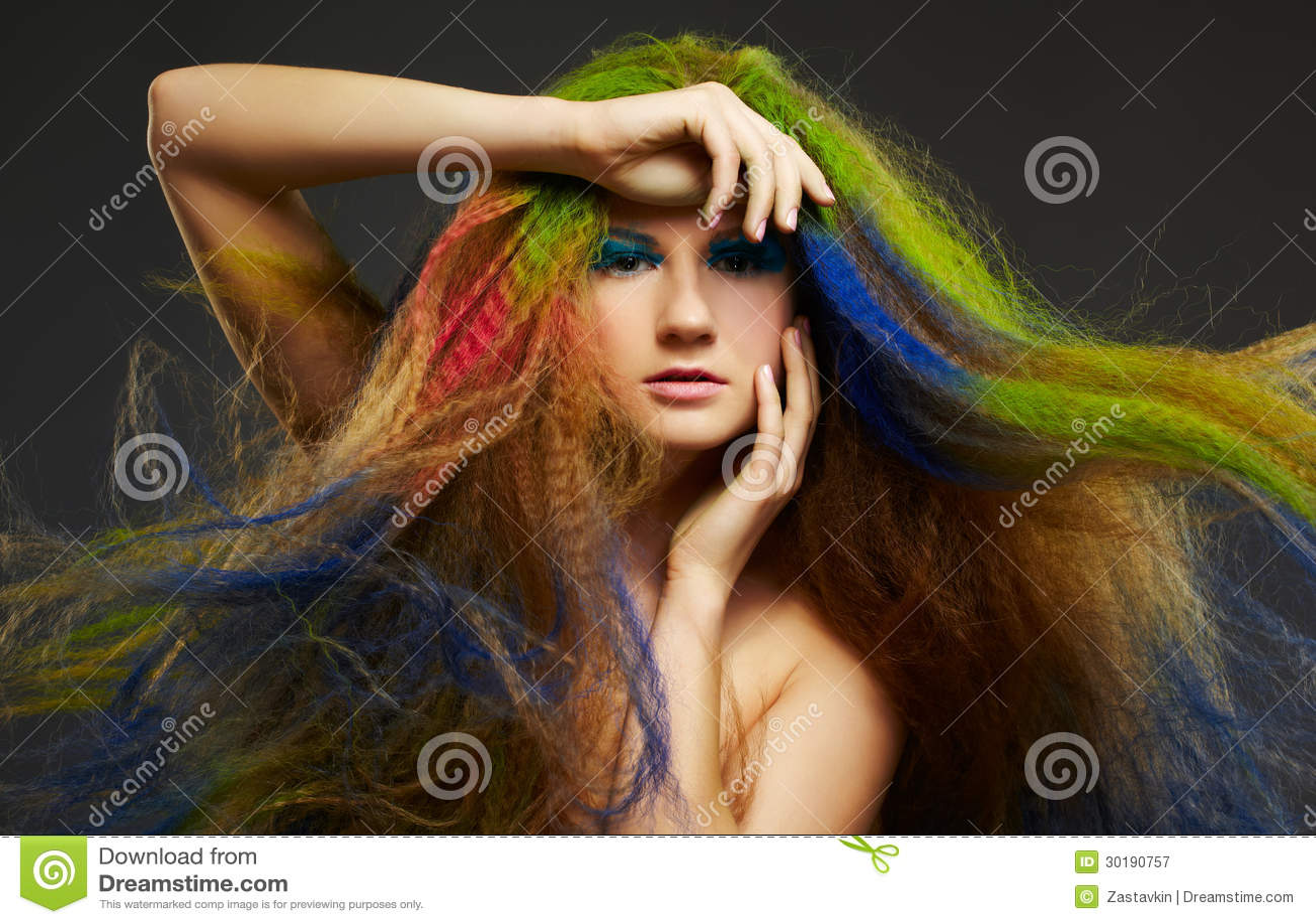 Immagini capelli lunghi colorati
