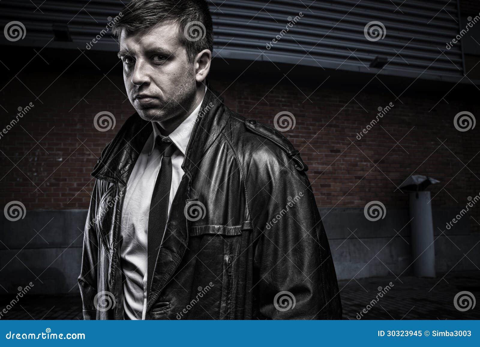 Dell'agente Stock Di Immagine Misterioso Uomo Ritratto Giovane InxA8Y8BT