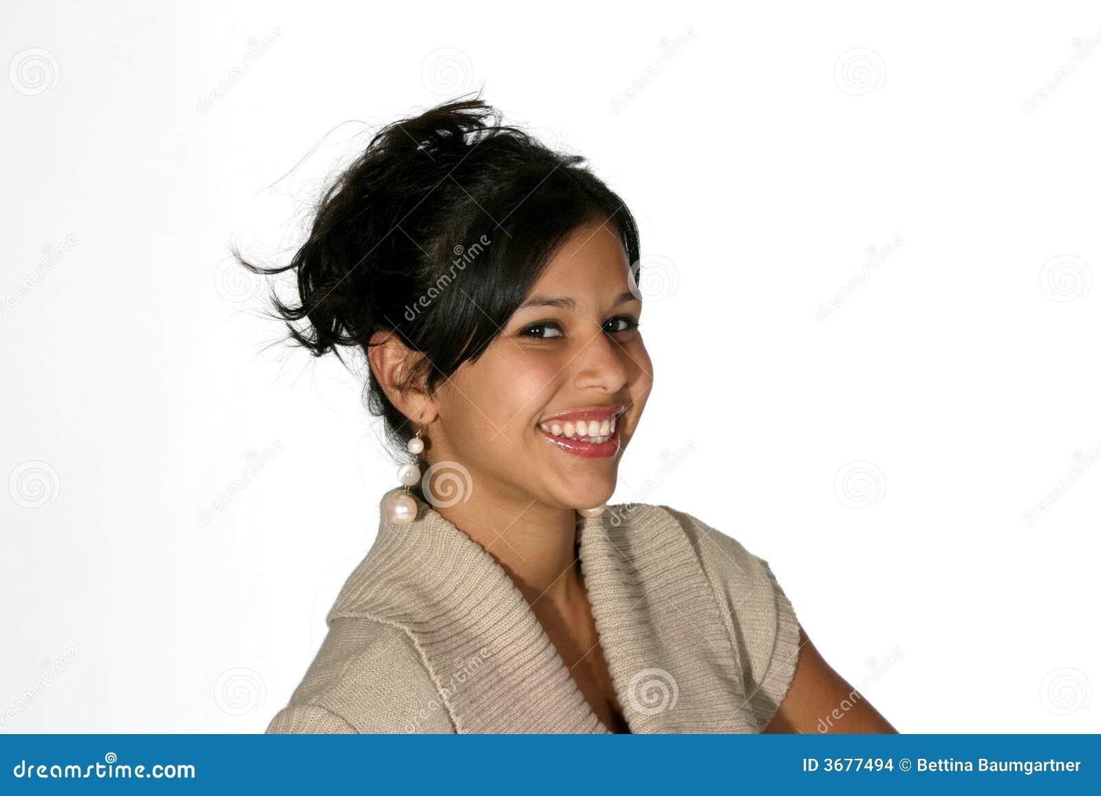 Download Ritratto Di Giovane Donna Attraente Fotografia Stock - Immagine di capelli, abbastanza: 3677494