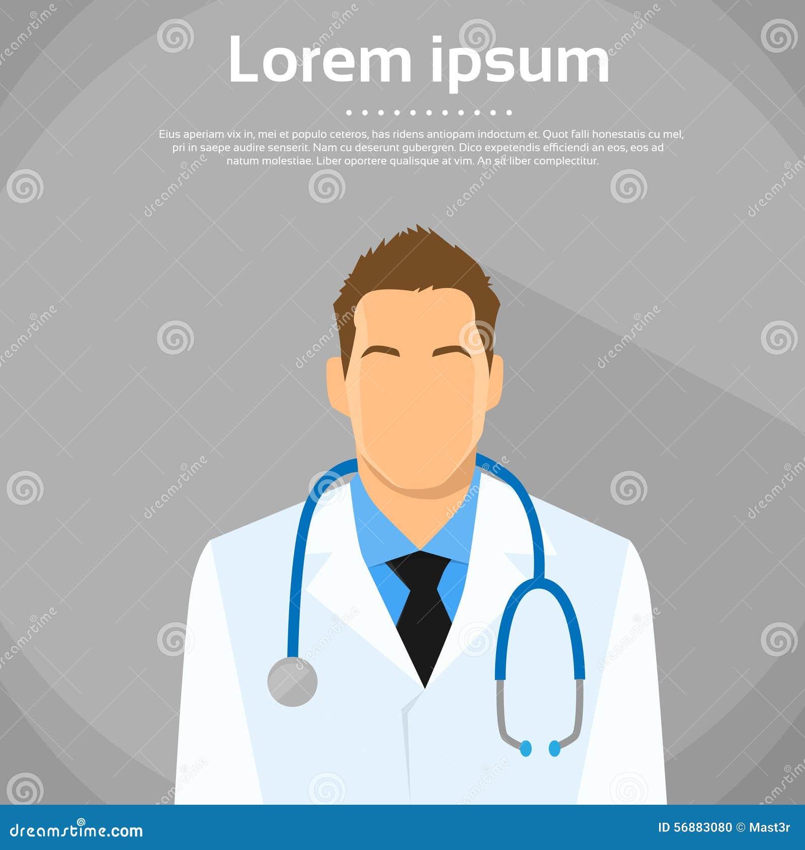 Ritratto di medico Profile Icon Male piano