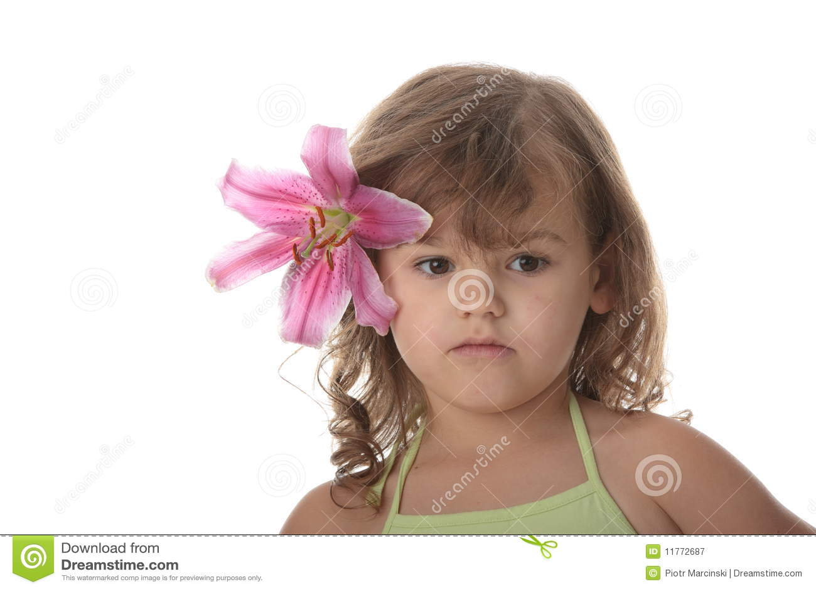 Ritratto di una ragazza di 5 anni immagine stock - Colorazione immagine di una ragazza ...