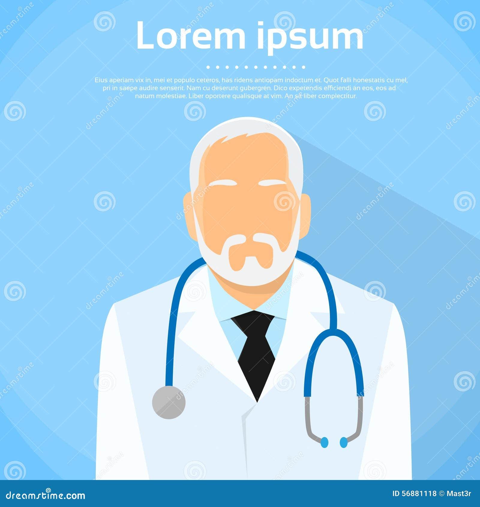 Ritratto senior di medico Profile Icon Male