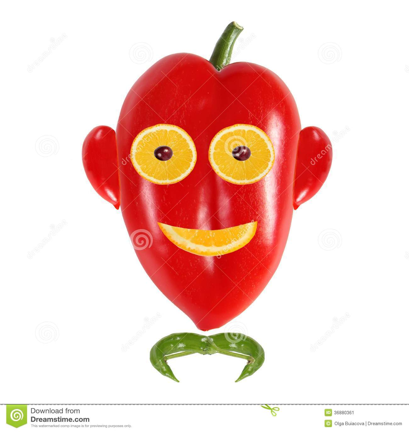Download Ritratto Sorridente Dell'uomo Fatto Delle Verdure E Della Frutta Immagine Stock - Immagine di umore, isolato: 36880361