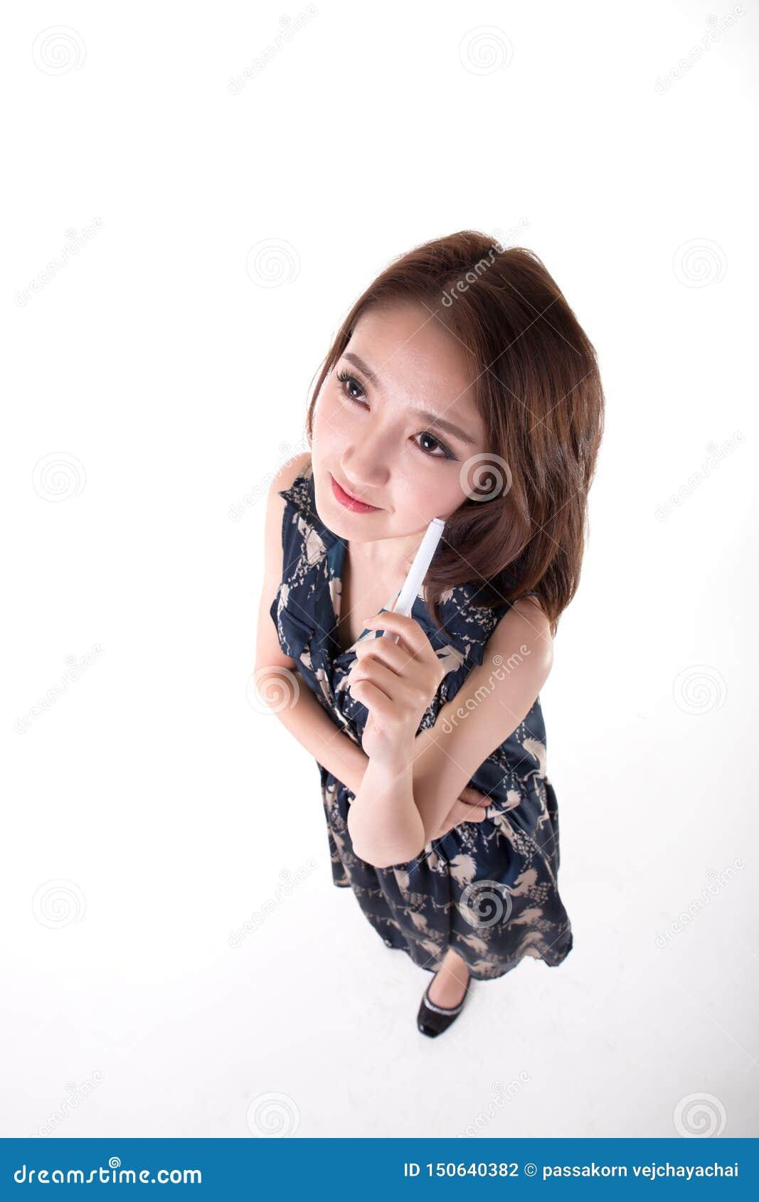 Ritratto tailandese attivo asiatico del ritratto woman