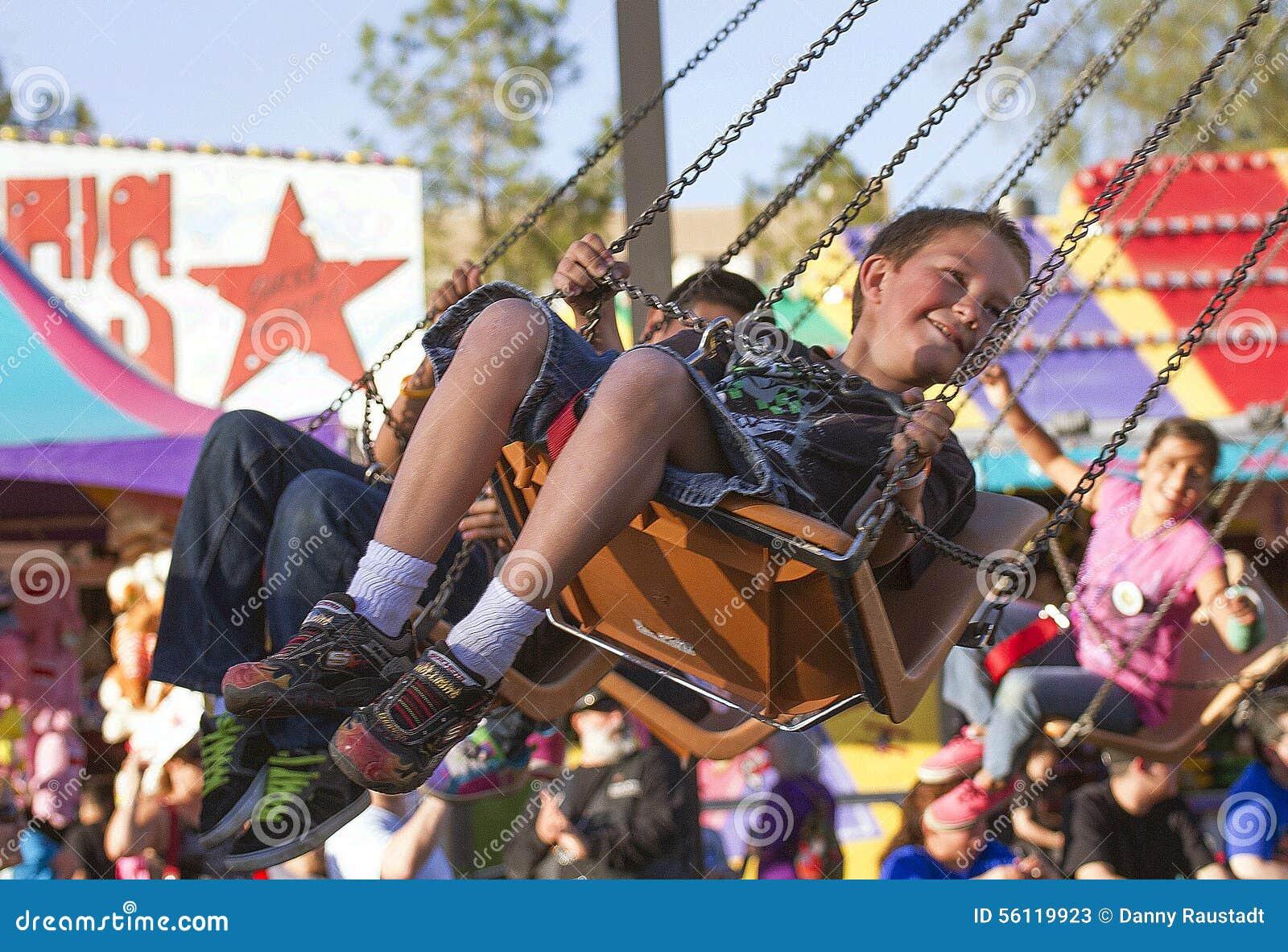 Ritt för karneval för ungar för Arizona tillstånd ganska