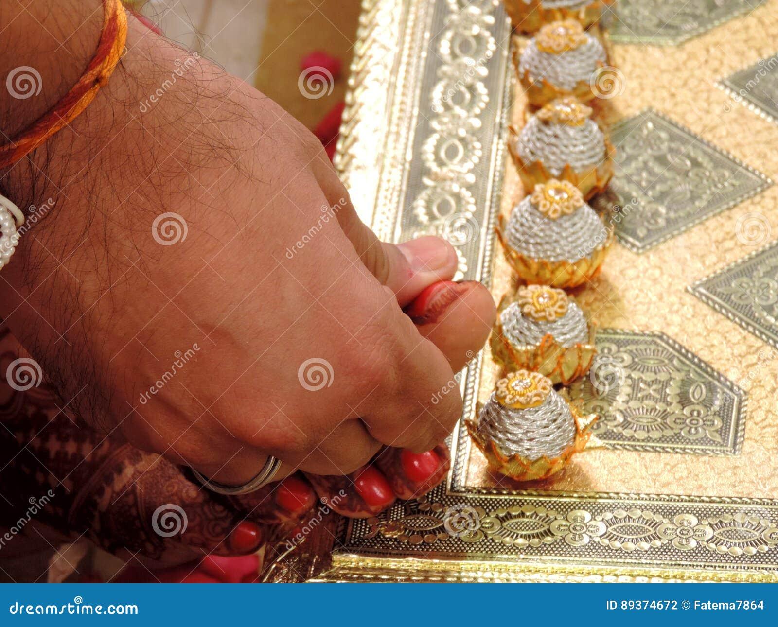 Rituale Der Traditionellen Hindischen Hochzeit Indien Stockfoto